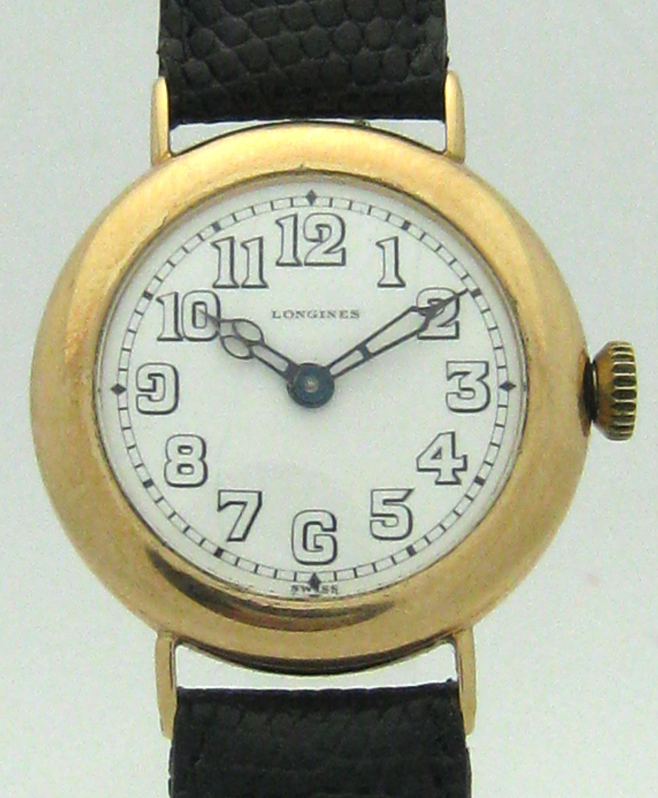 longines 14 karat gold herren vintage armbanduhr 20er ebay. Black Bedroom Furniture Sets. Home Design Ideas