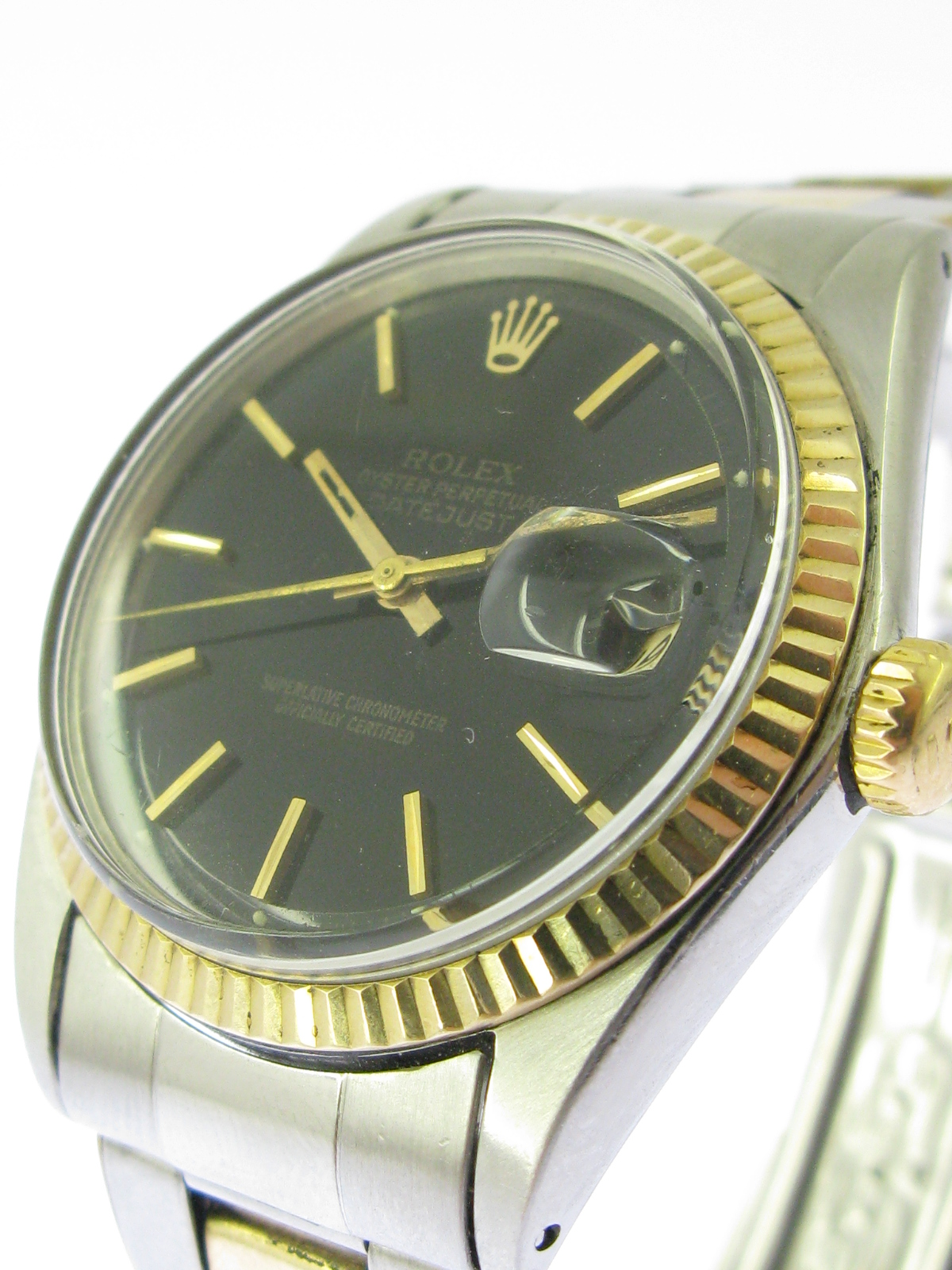 rolex datejust ref 1601 stahl gold oyster band genietet ebay. Black Bedroom Furniture Sets. Home Design Ideas