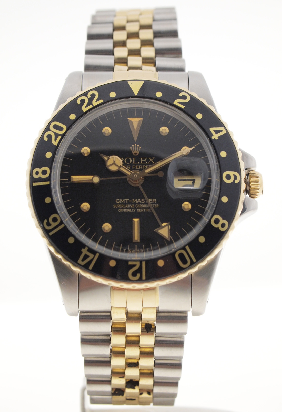 rolex gmt master in stahl gold ref 1675 box papiere ebay. Black Bedroom Furniture Sets. Home Design Ideas