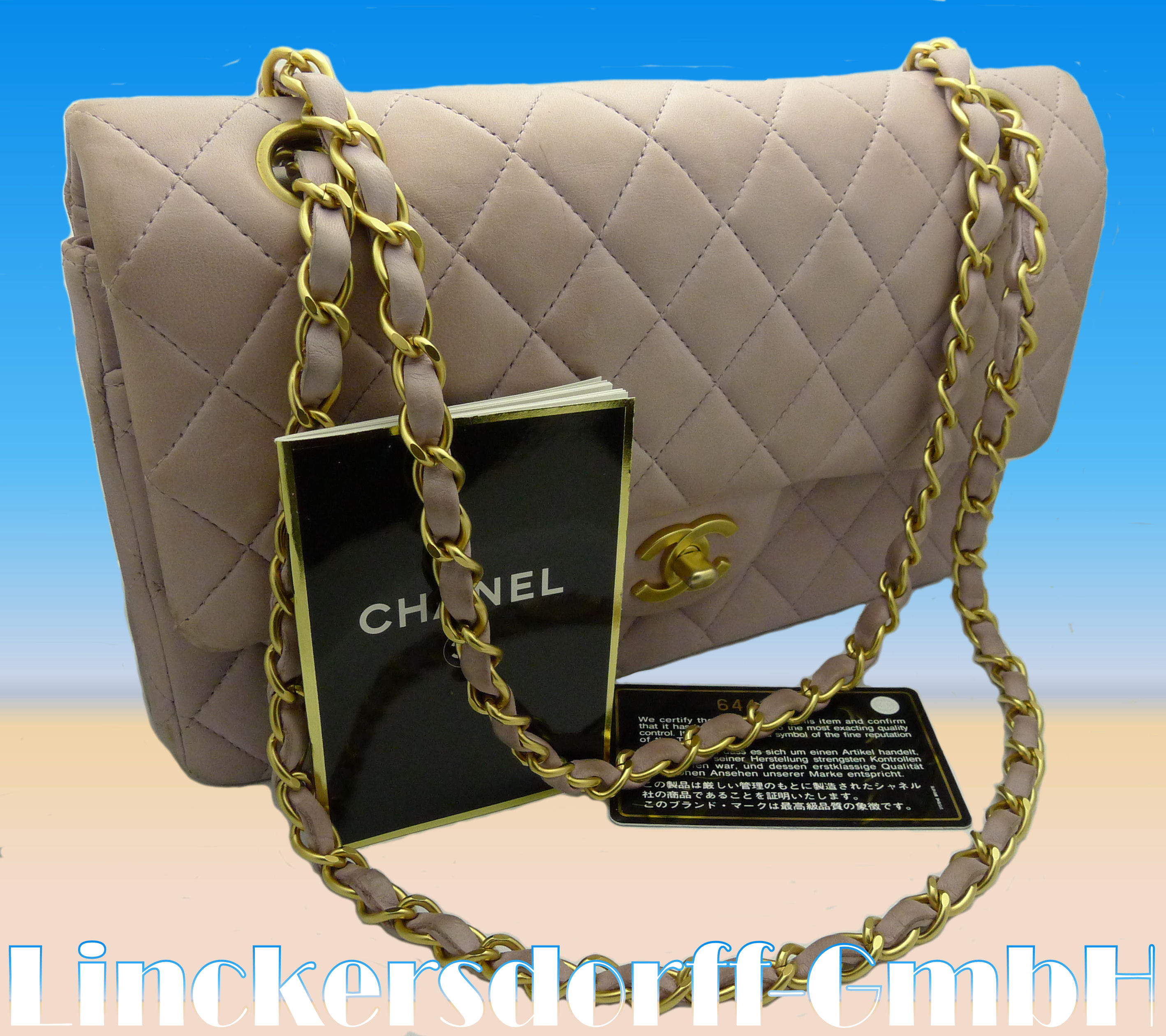 chanel tasche handtasche fliederfarben chevreauleder. Black Bedroom Furniture Sets. Home Design Ideas