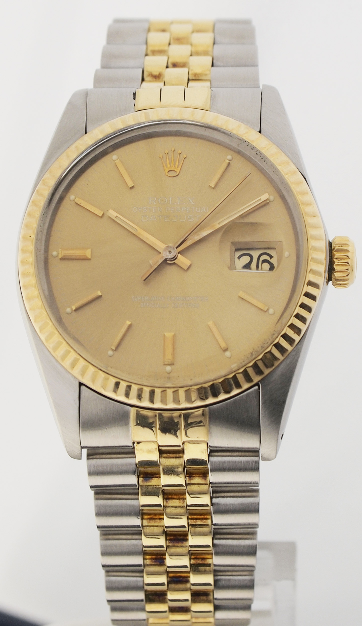 rolex oyster perpetual datejust herren stahl gold. Black Bedroom Furniture Sets. Home Design Ideas