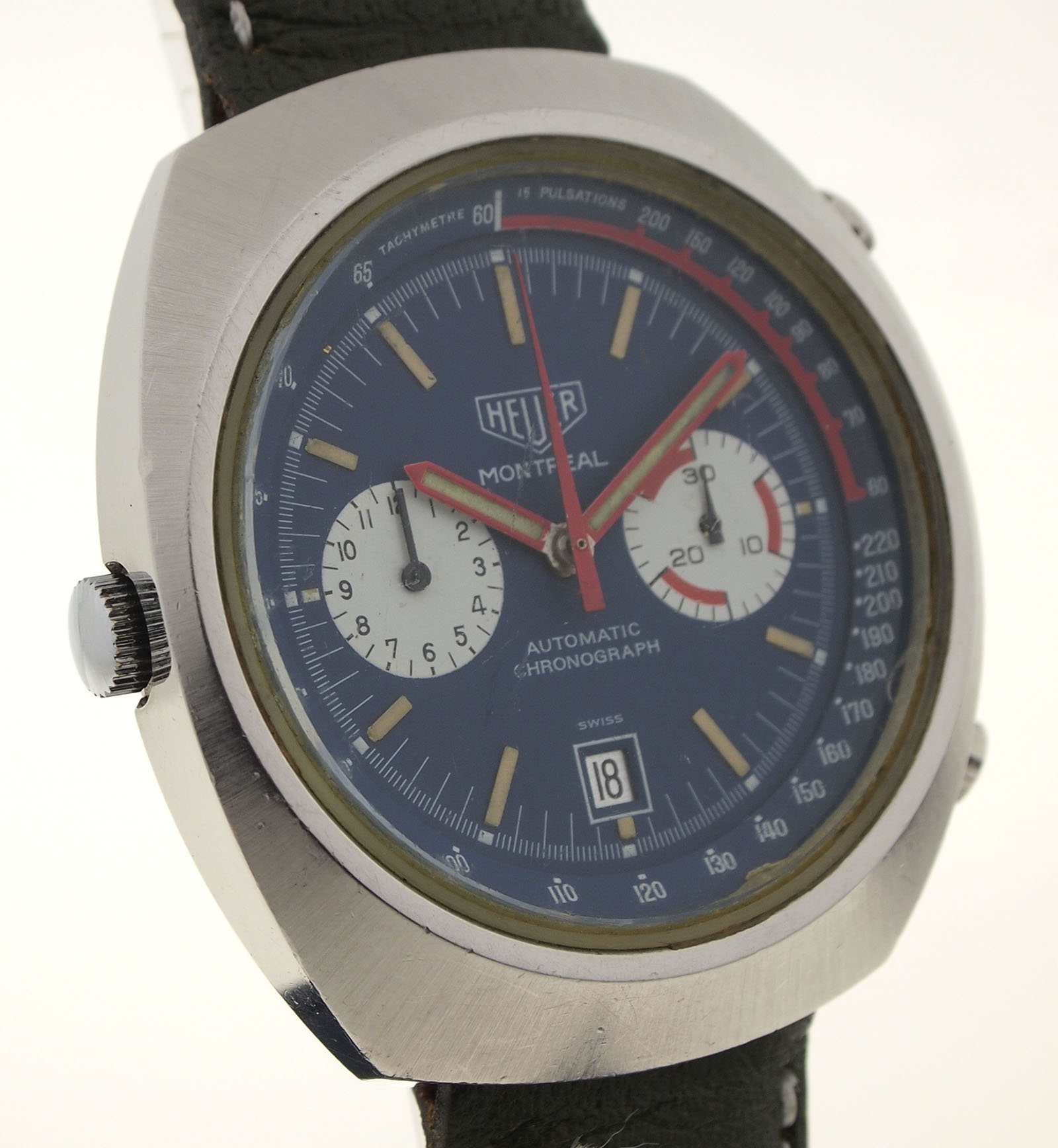 heuer montreal chronograph automatic stahl herrenuhr. Black Bedroom Furniture Sets. Home Design Ideas
