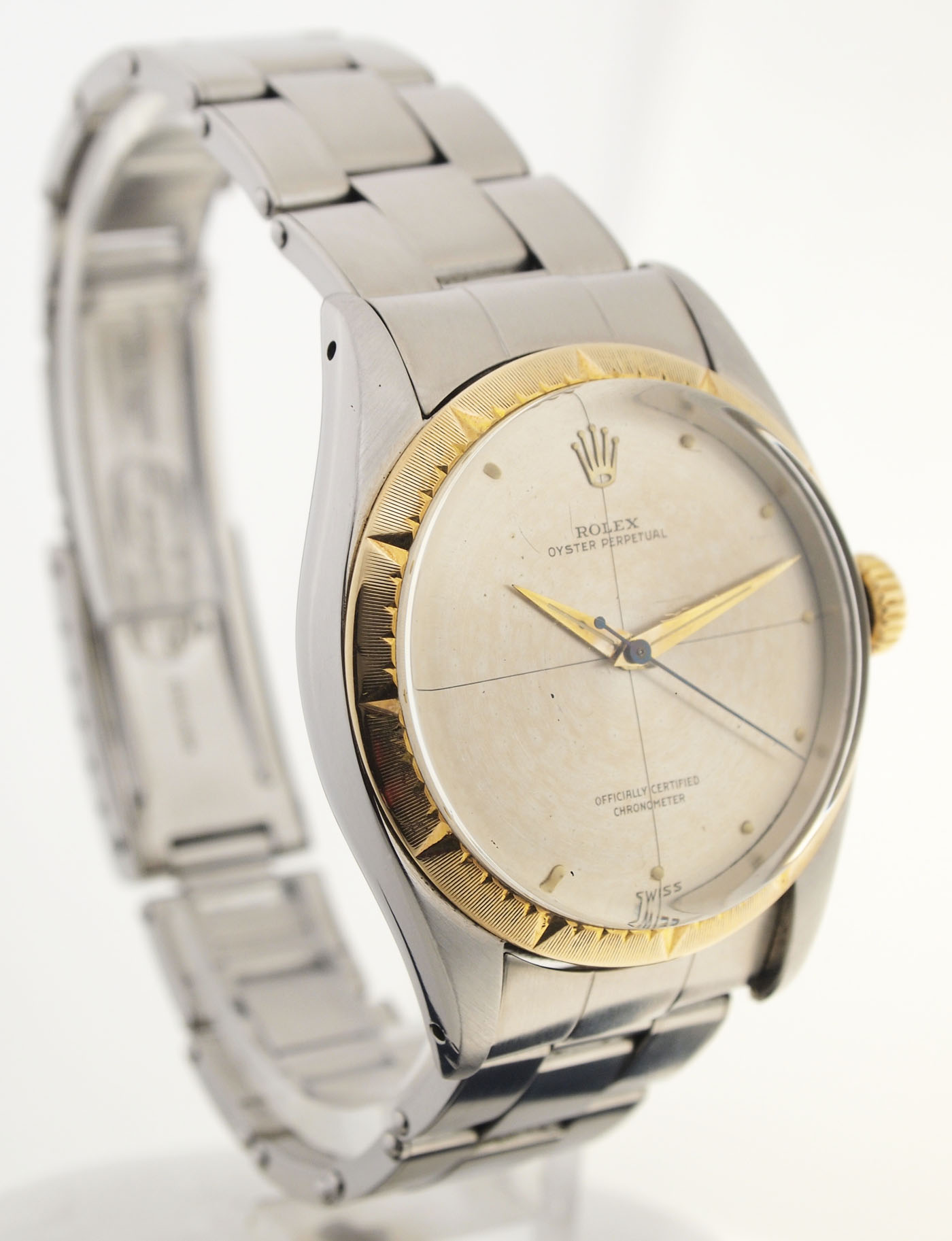 rolex oyster perpetual chronometer stahl gold ref. Black Bedroom Furniture Sets. Home Design Ideas