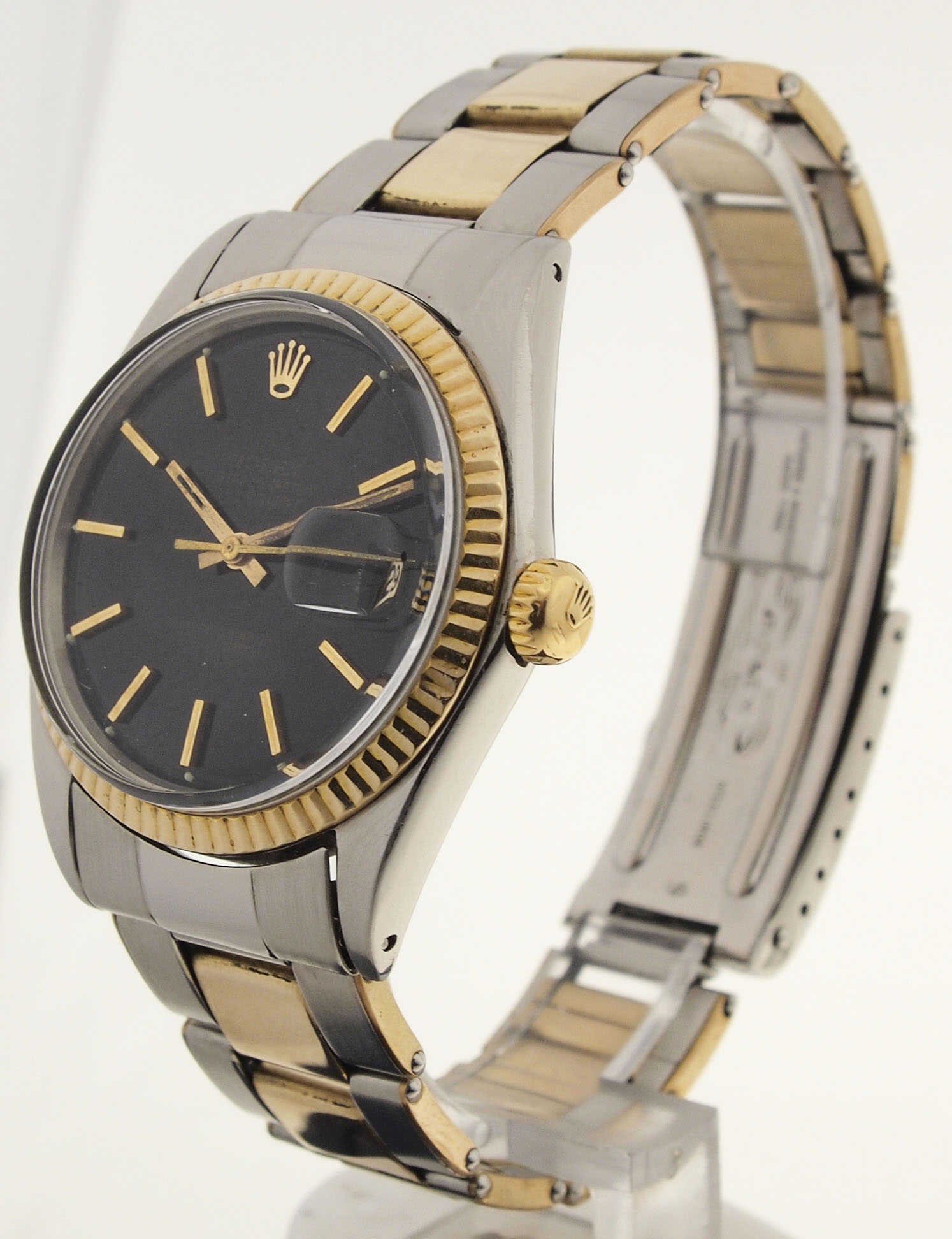 rolex datejust von 1965 herren stahl gold. Black Bedroom Furniture Sets. Home Design Ideas
