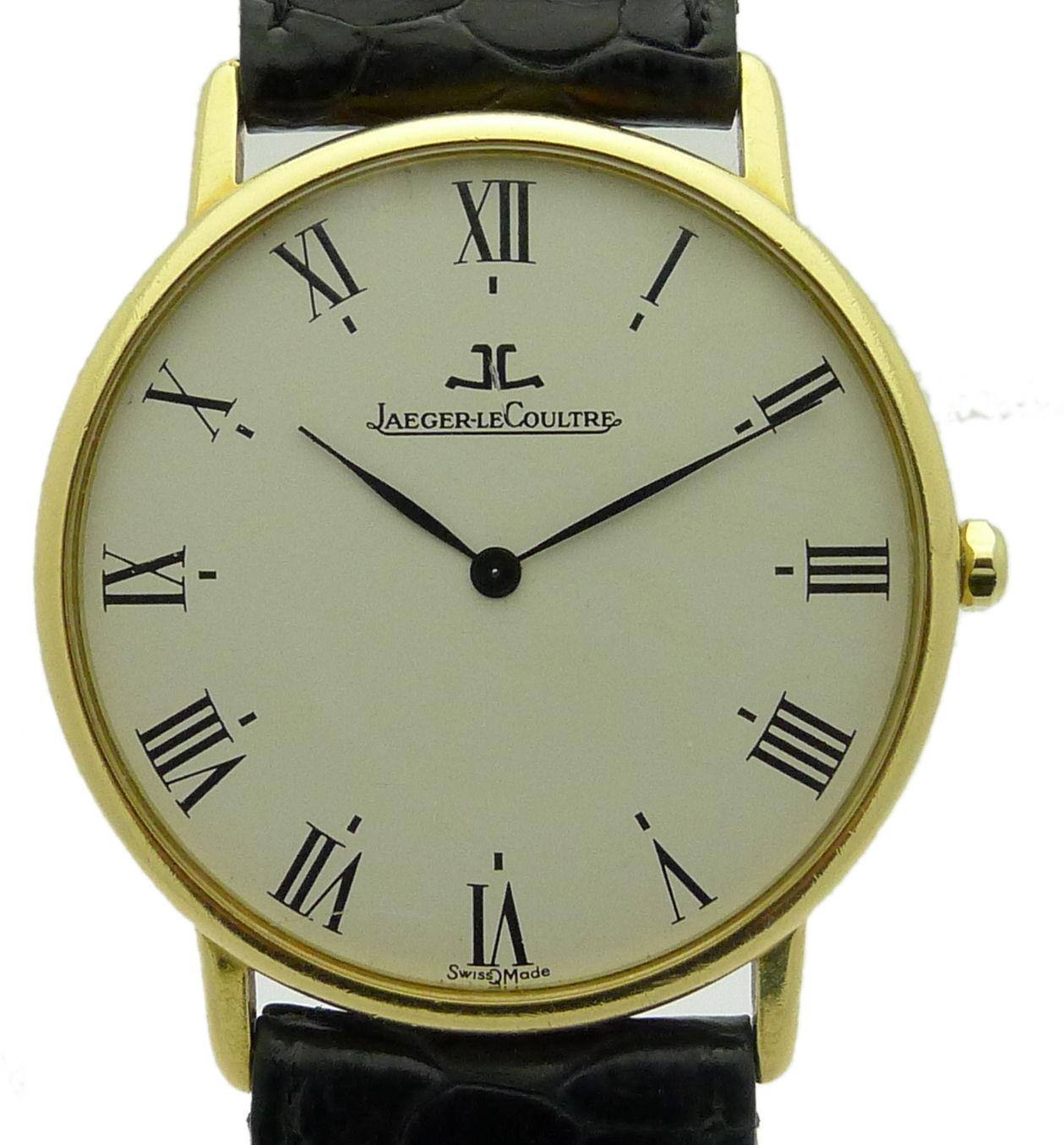 Jaeger lecoultre 18kt oro da uomo orologio da polso quartz for Ebay classico