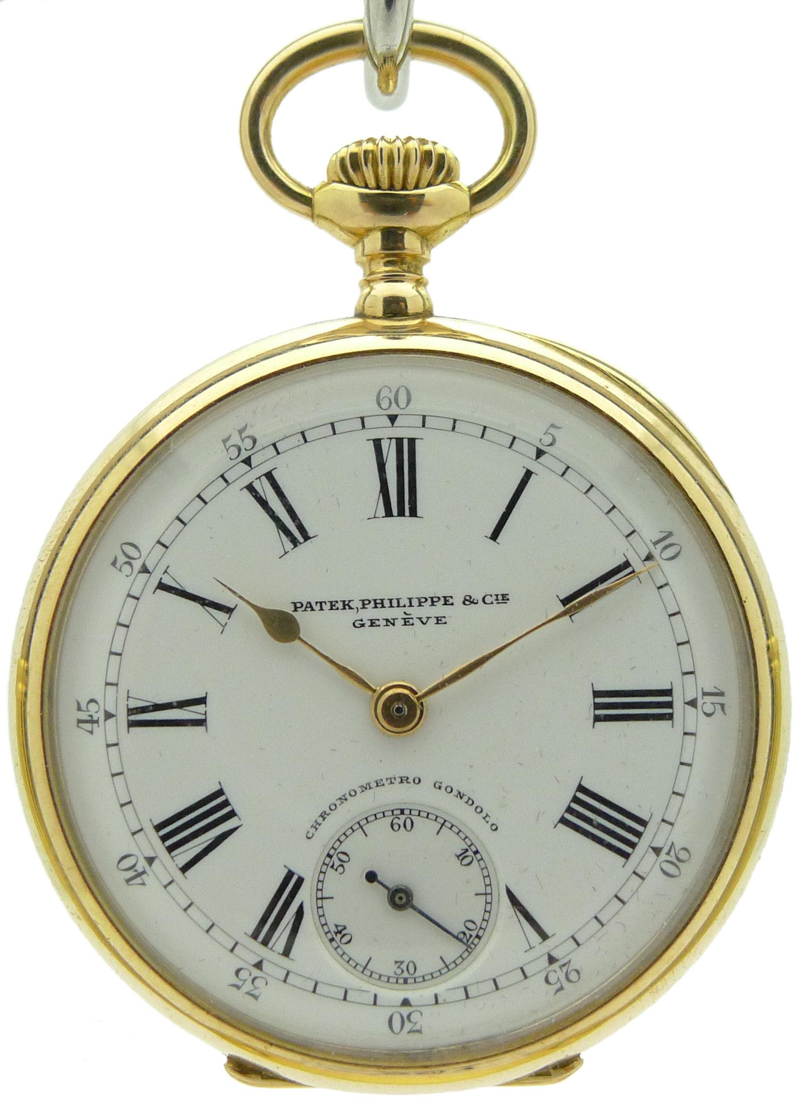 Patek Philippe Pp 5205 R Rosegold Black Dial Annual: Patek Philippe Gondolo Ladies Pocket Watch 1912 Original