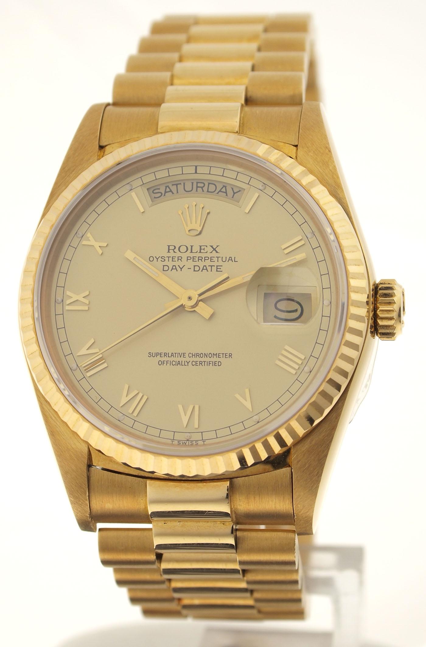Goldene Herren Rolex