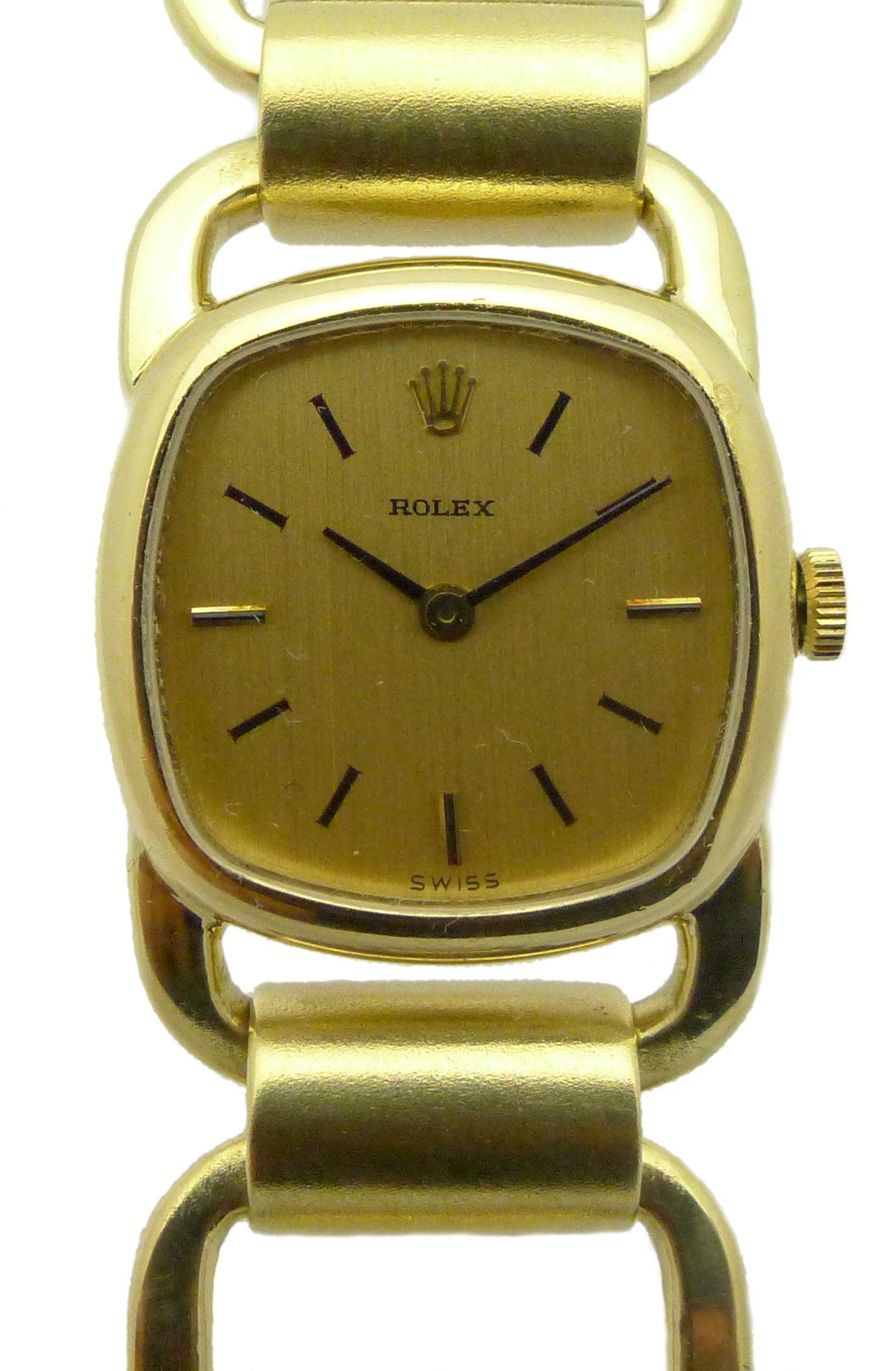 rolex designer armbanduhr aus den 1970er jahren massiv 18ct gold damen ebay. Black Bedroom Furniture Sets. Home Design Ideas