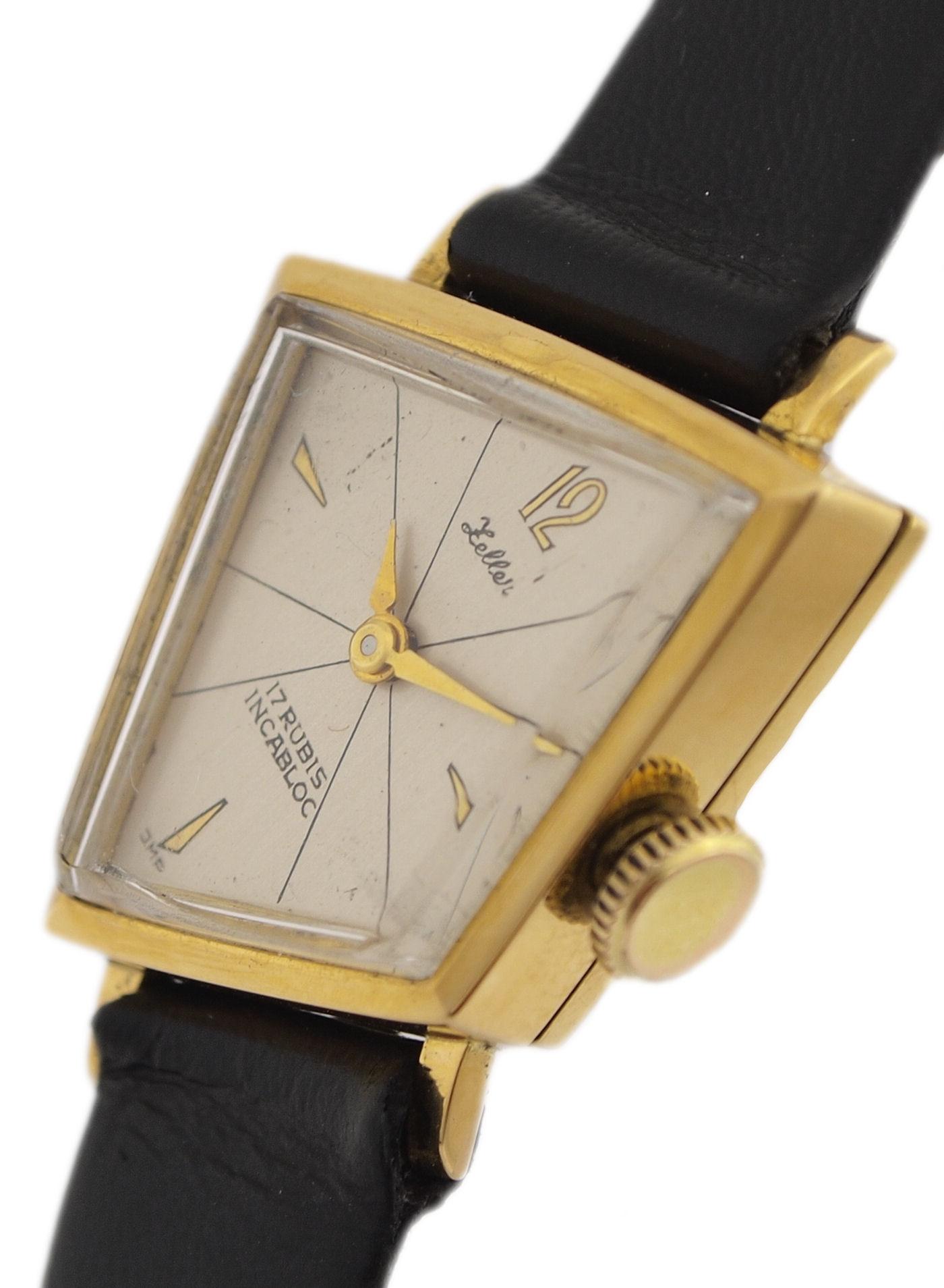 zeller asymmetrische 18 karat gold damen armbanduhr ca. Black Bedroom Furniture Sets. Home Design Ideas