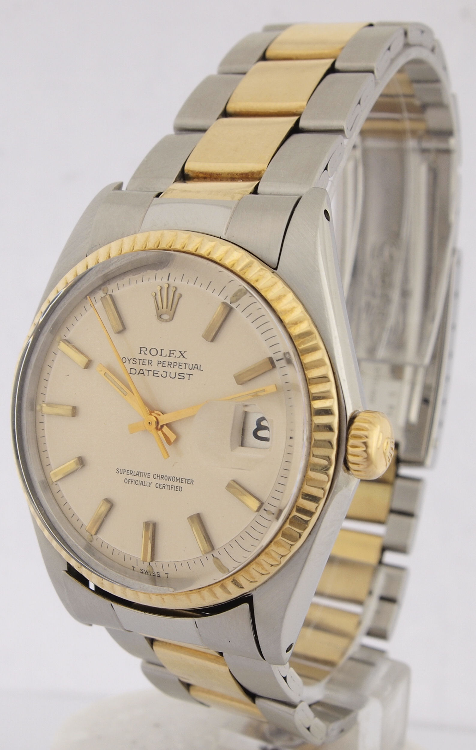rolex datejust perpetual stahl gold herren armbanduhr ref. Black Bedroom Furniture Sets. Home Design Ideas