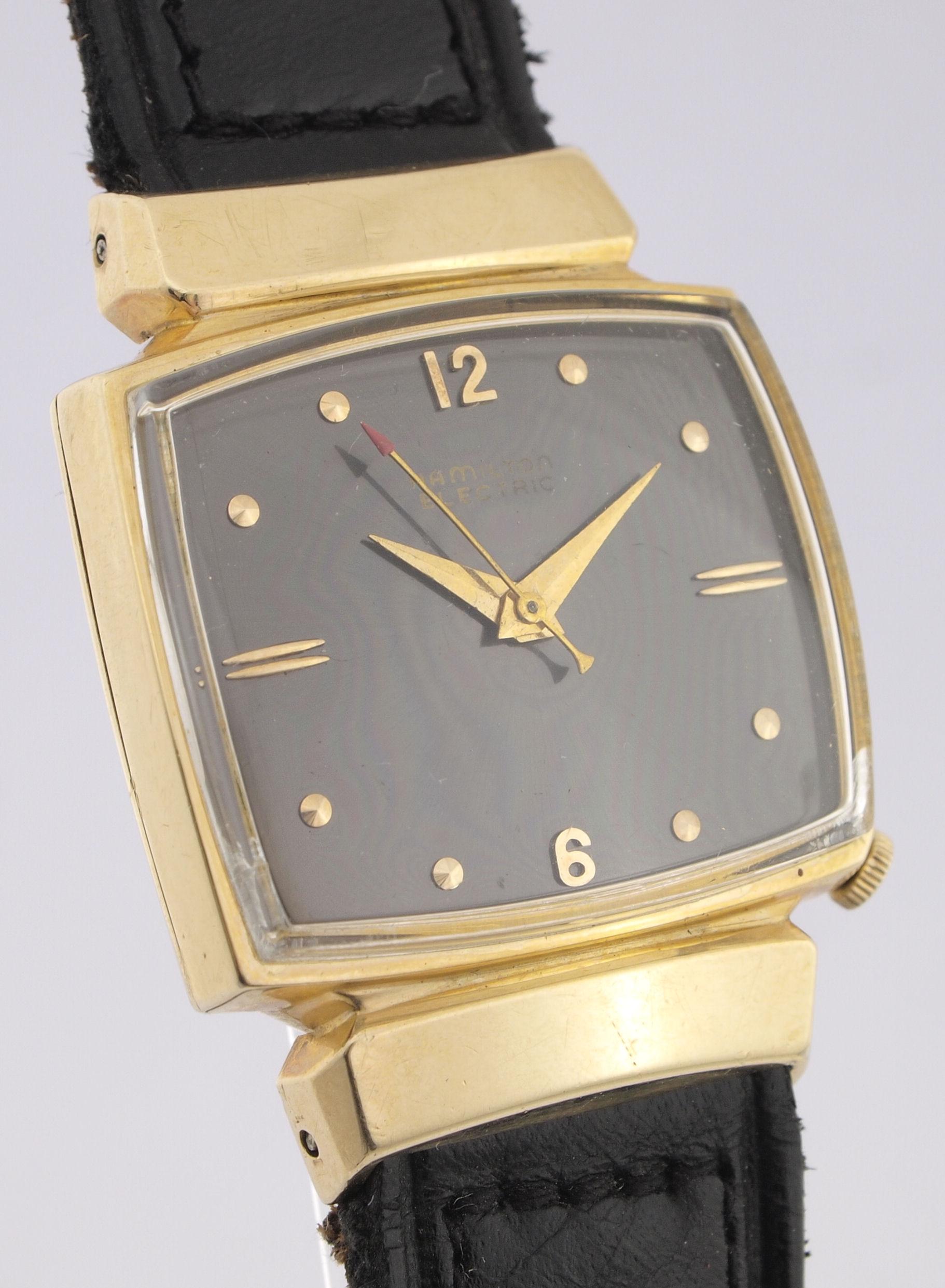 hamilton electric doubl herren armbanduhr aus den 50er. Black Bedroom Furniture Sets. Home Design Ideas