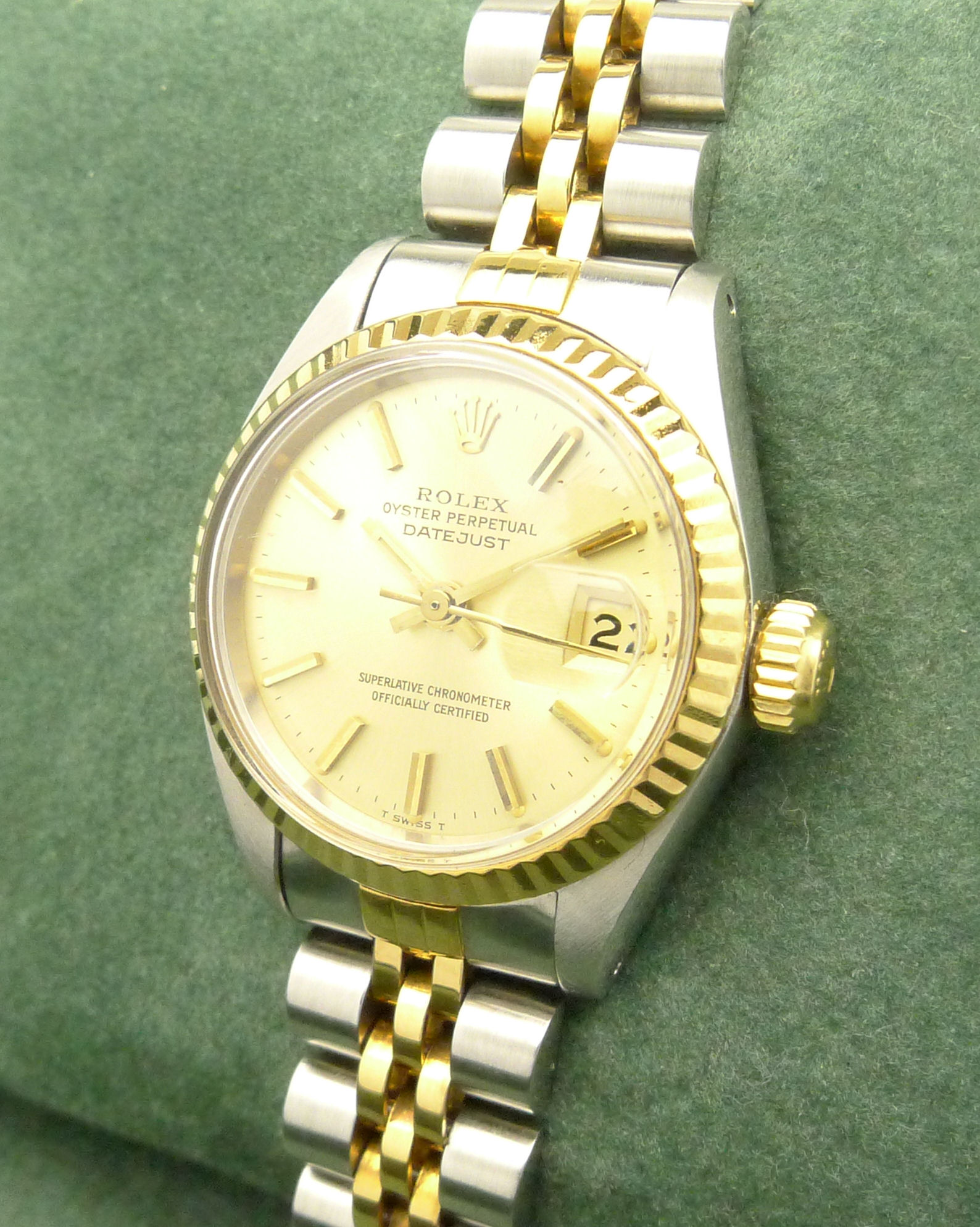 rolex lady datejust damenuhr ref 6917 stahl gold mit. Black Bedroom Furniture Sets. Home Design Ideas