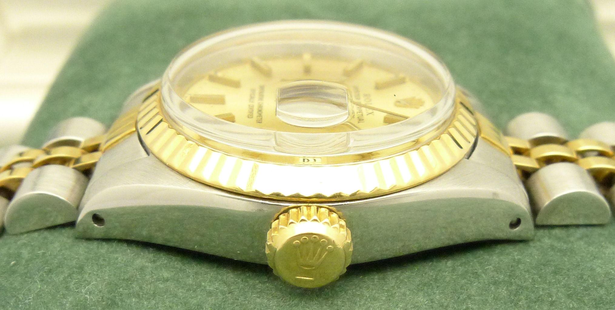 Details zu rolex lady datejust damenuhr ref 6917 stahl gold mit
