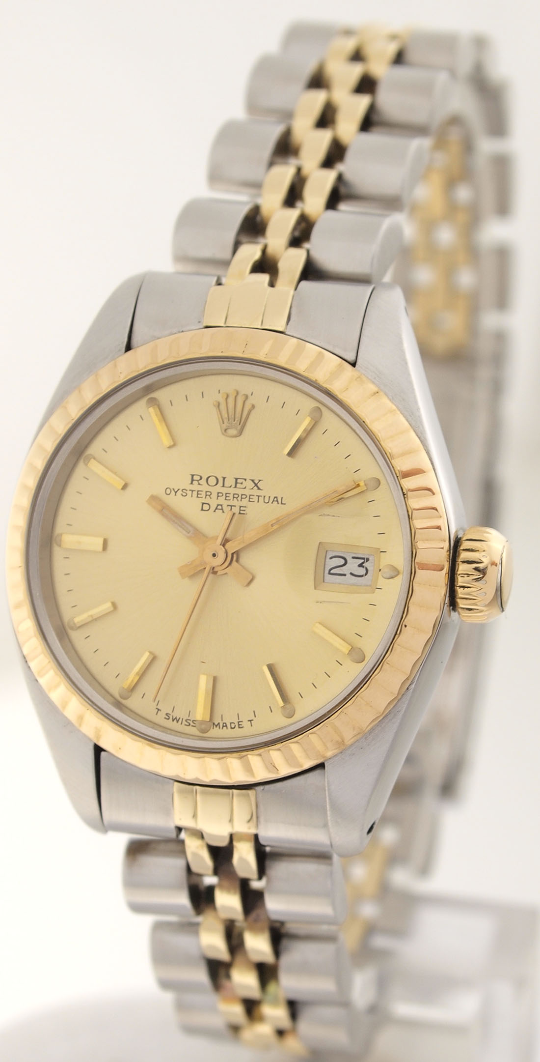 rolex date in stahl gold datejust damen lady. Black Bedroom Furniture Sets. Home Design Ideas
