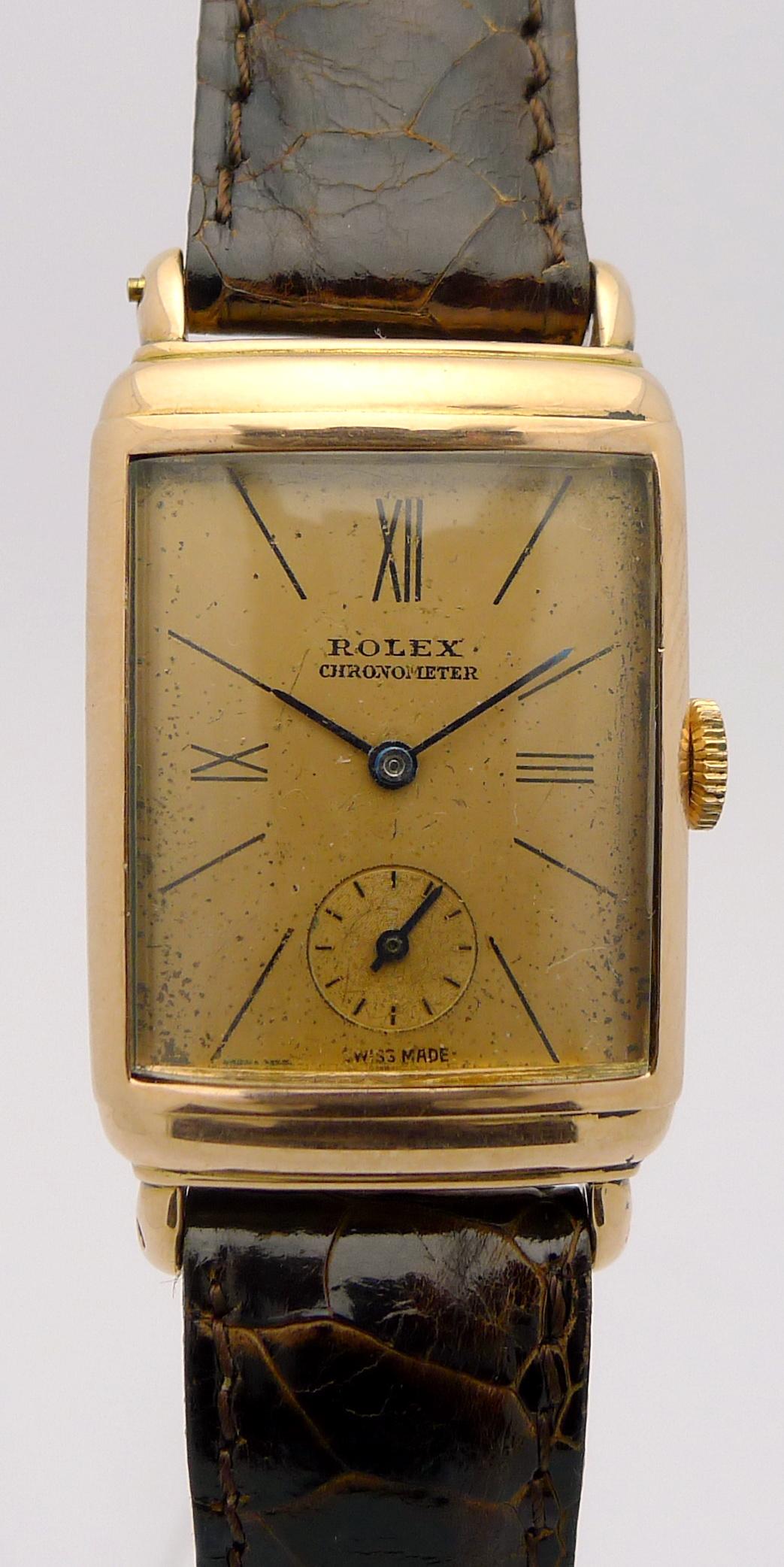 rolex chronometer 14kt rotgold herrenuhr original rolex. Black Bedroom Furniture Sets. Home Design Ideas