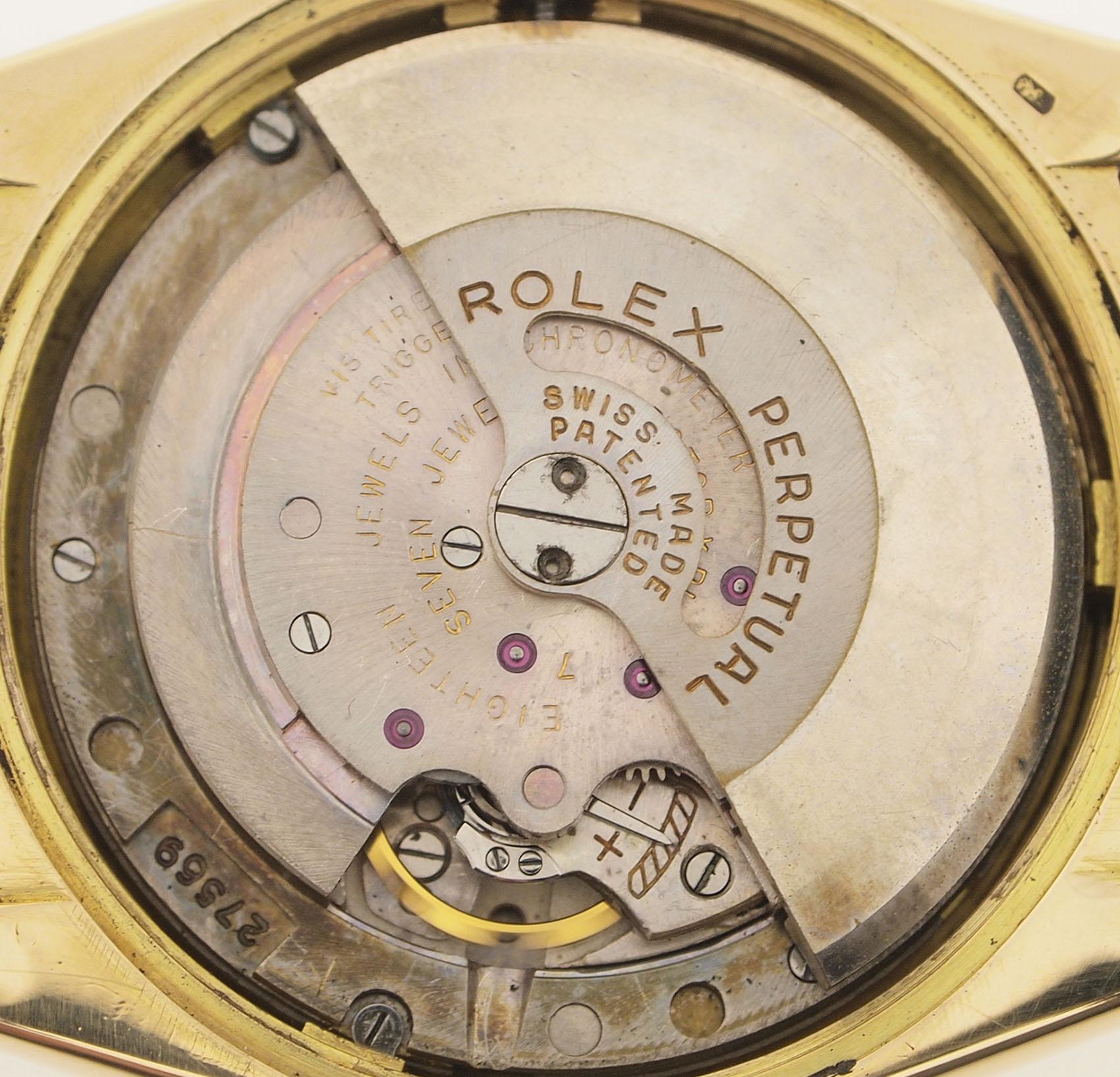 rolex big bubble ref 6105 oyster perpetual datejust chronometer 18ct gold ebay. Black Bedroom Furniture Sets. Home Design Ideas