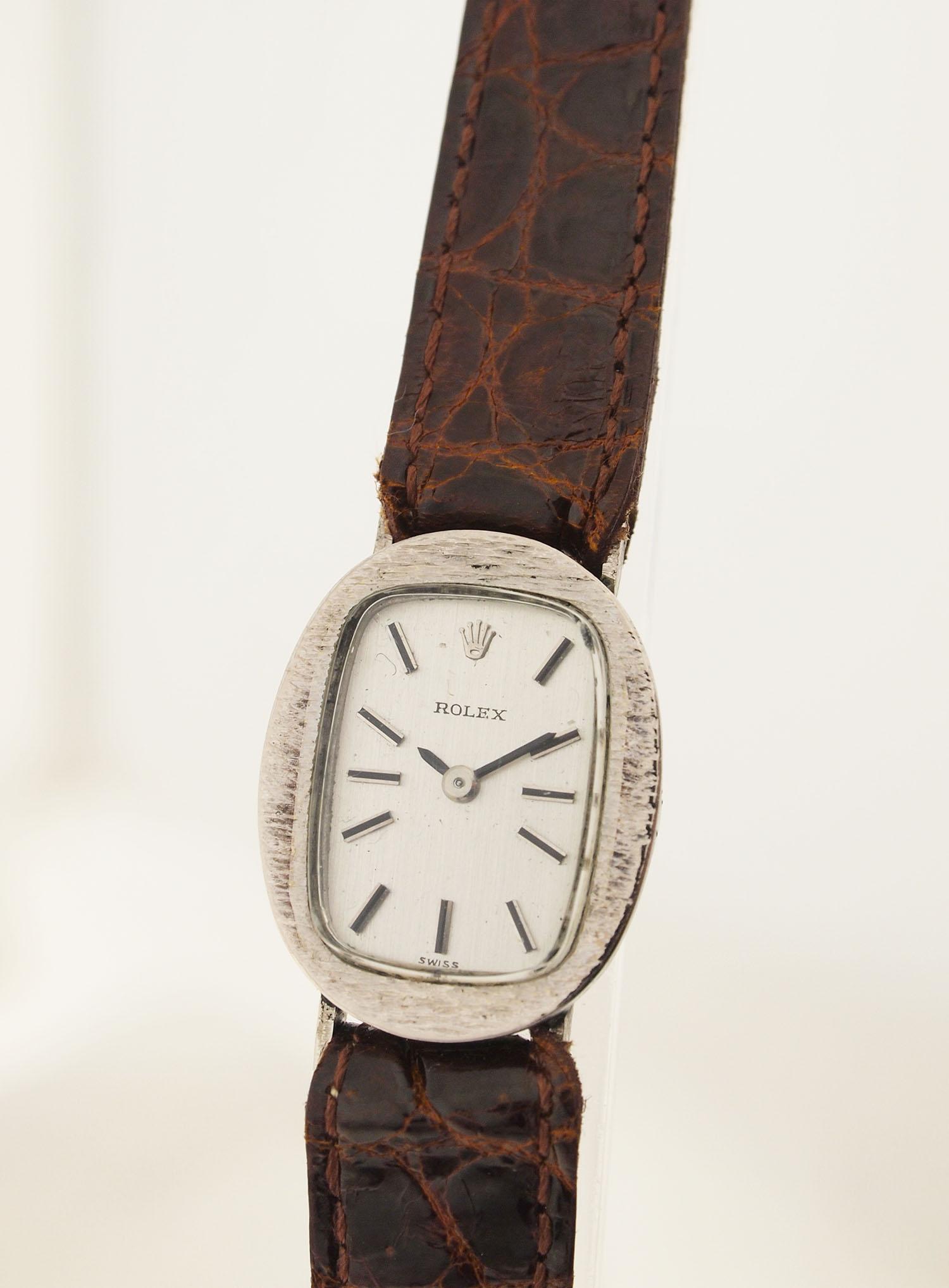 rolex damen armbanduhr in 18ct weissgold 1960er jahre. Black Bedroom Furniture Sets. Home Design Ideas