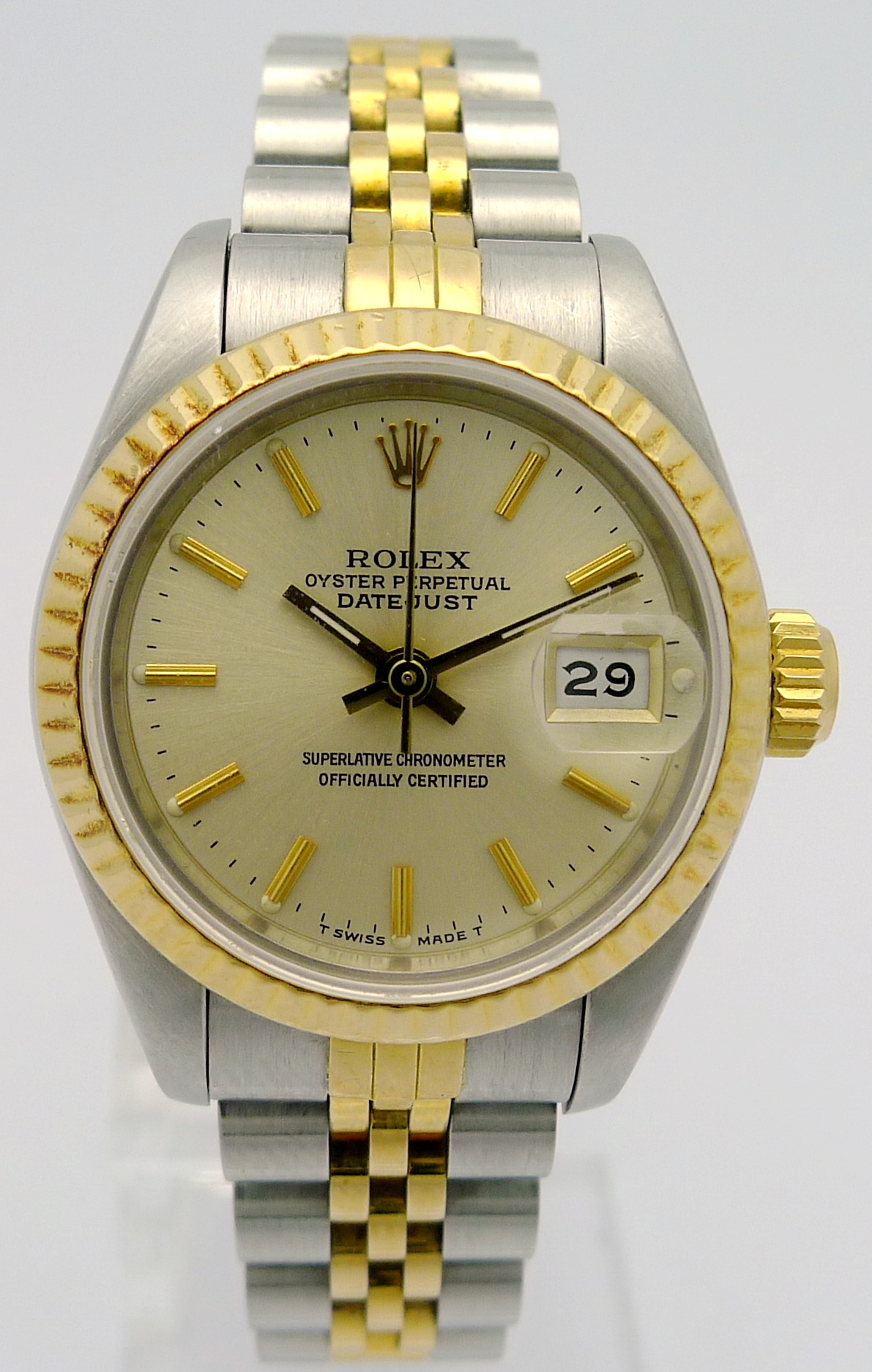 rolex lady datejust ref 69173 in stahl gold orig. Black Bedroom Furniture Sets. Home Design Ideas