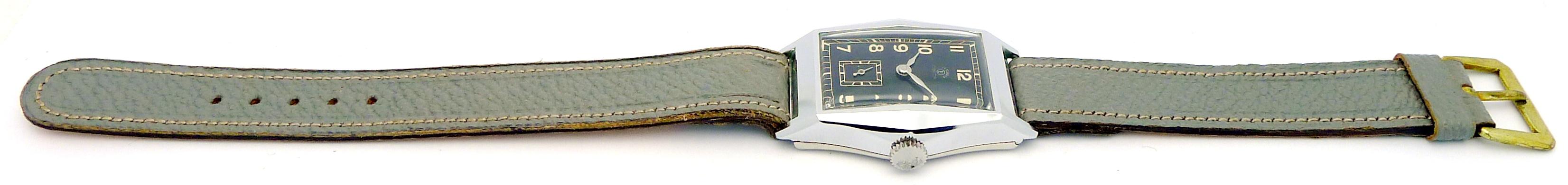 anker art deco design stahl herren armbanduhr aus den 30. Black Bedroom Furniture Sets. Home Design Ideas