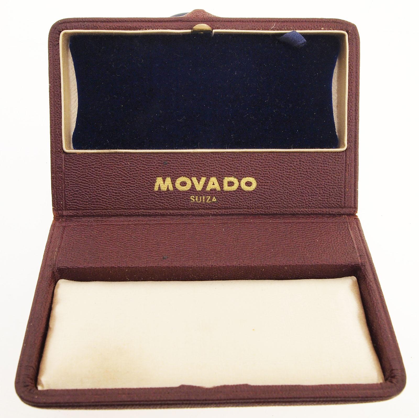original movado armbanduhren etui box aus den 1960er jahren mit samt seide ebay. Black Bedroom Furniture Sets. Home Design Ideas