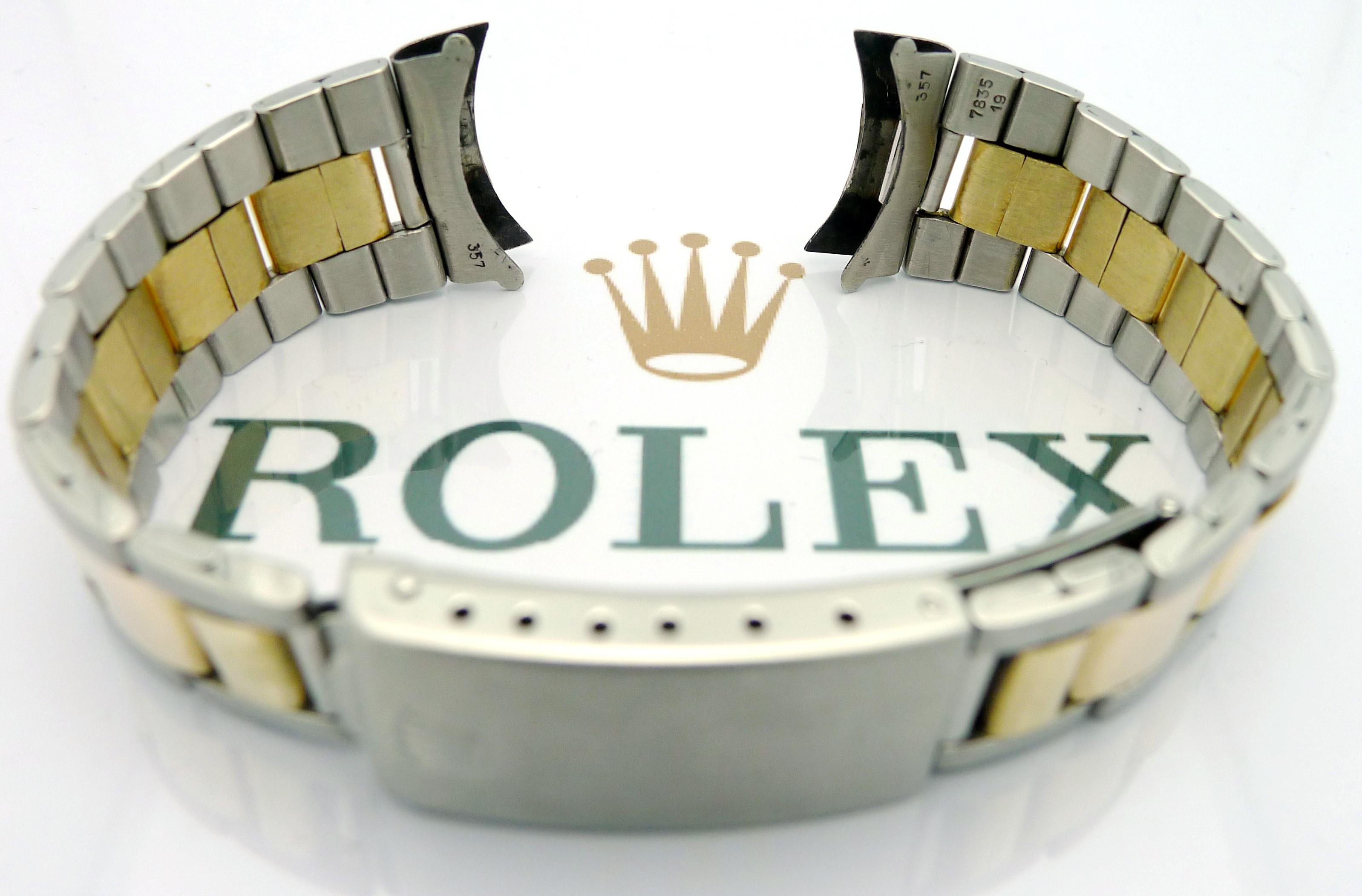 rolex oyster stahl gold armband ref 7835 19 bandanst. Black Bedroom Furniture Sets. Home Design Ideas