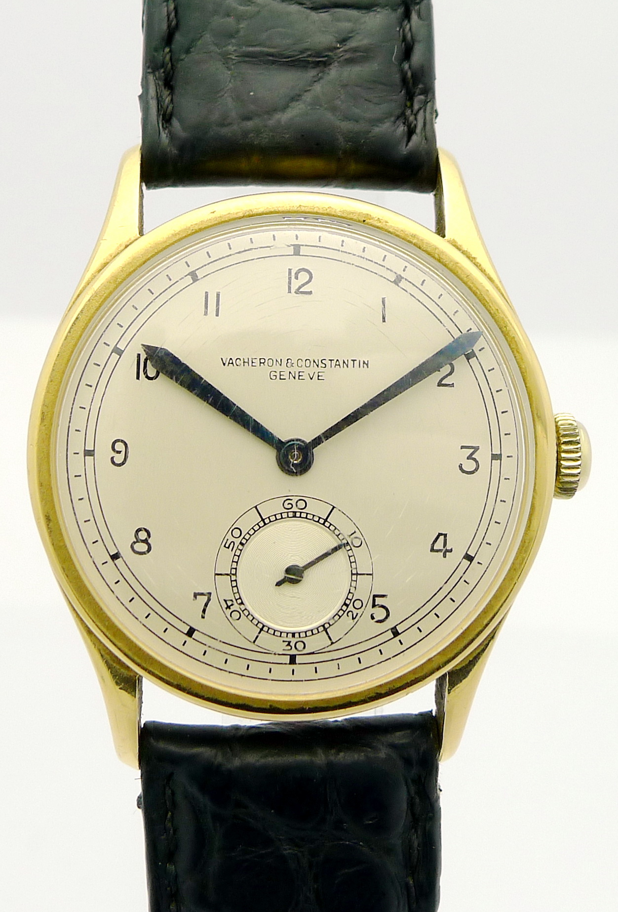 vacheron constantin 18ct gold herren armbanduhr aus. Black Bedroom Furniture Sets. Home Design Ideas