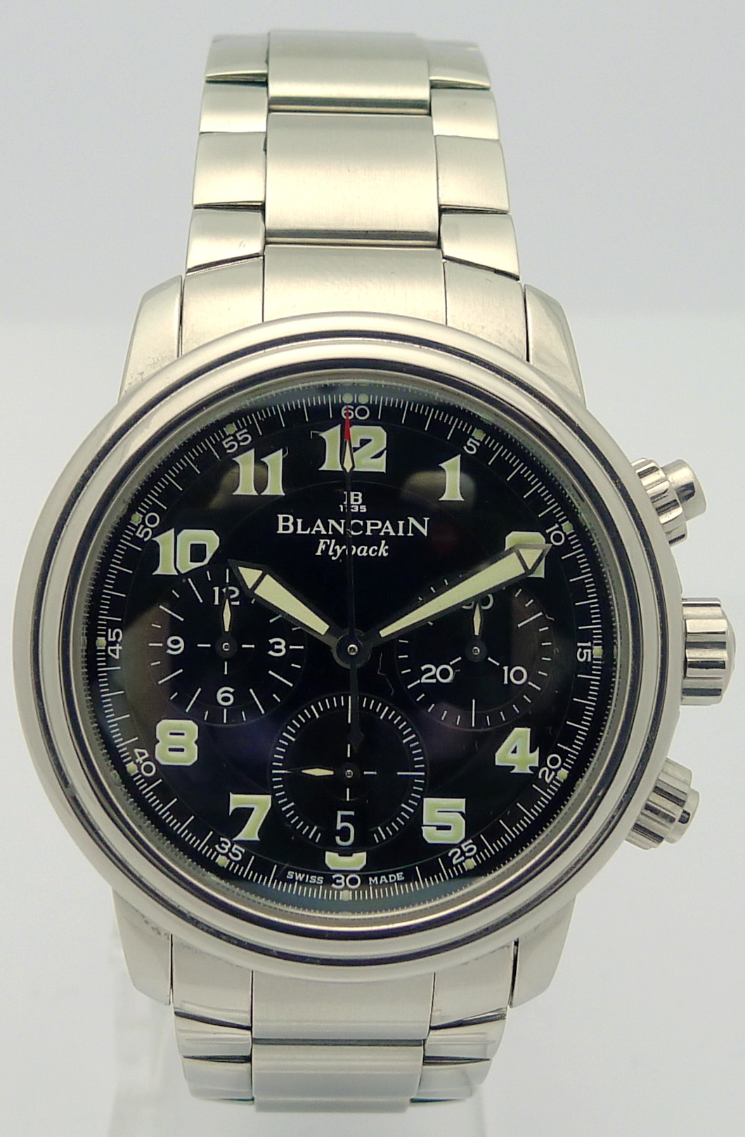 blancpain flyback stahl herren automatik chronograph no. Black Bedroom Furniture Sets. Home Design Ideas