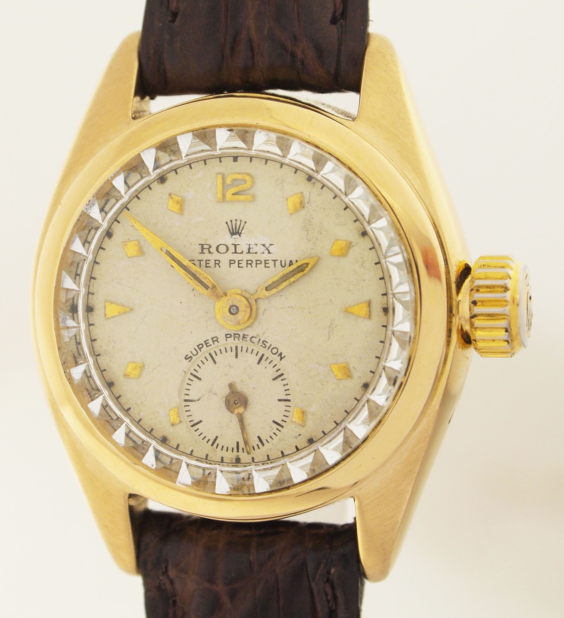 rolex bubbleback ladies wristwatch in 18ct gold ref 4486 rare 1950er years ebay. Black Bedroom Furniture Sets. Home Design Ideas