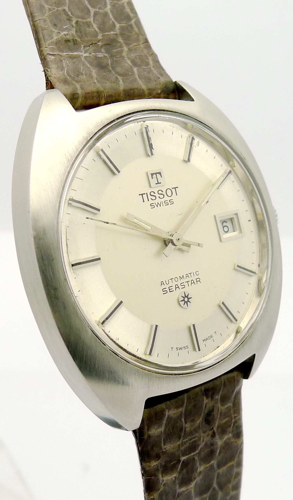 tissot seastar stahl herren automatik armbanduhr aus den 70er jahre ebay. Black Bedroom Furniture Sets. Home Design Ideas