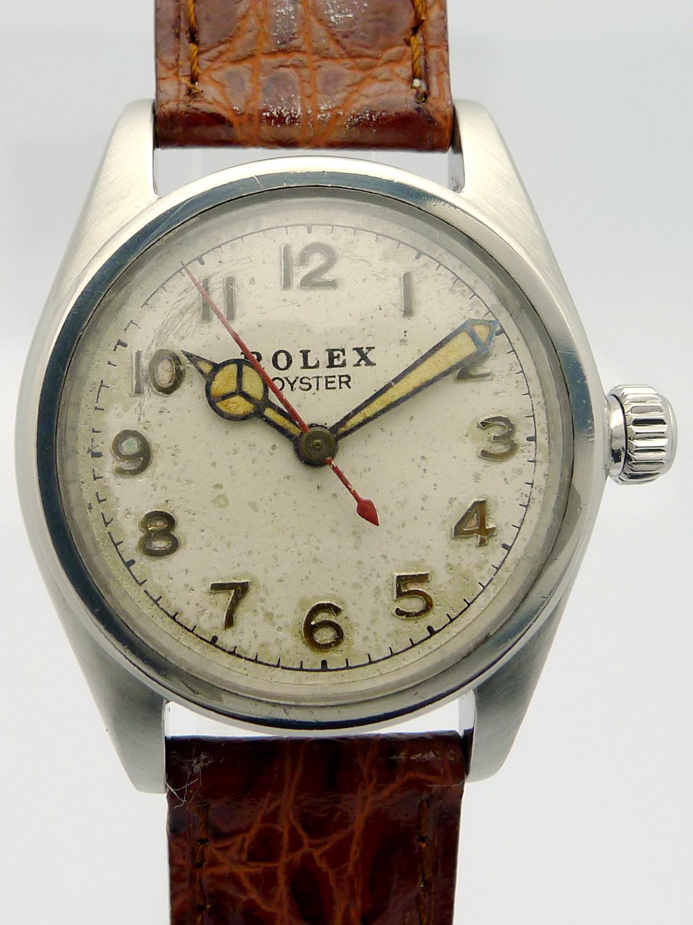 rolex oyster stahl herren armbanduhr ref 2595 aus den. Black Bedroom Furniture Sets. Home Design Ideas