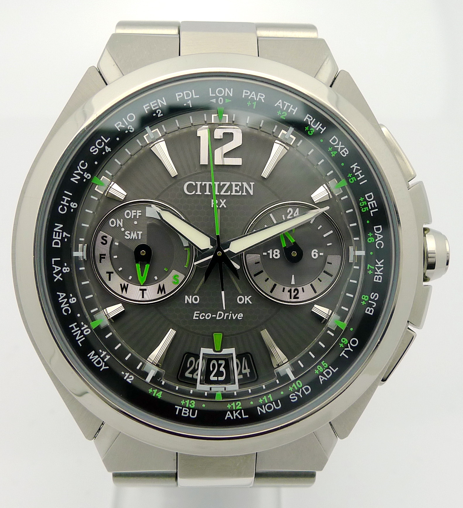 citizen rx eco drive satellite wave herren stahl quartz. Black Bedroom Furniture Sets. Home Design Ideas