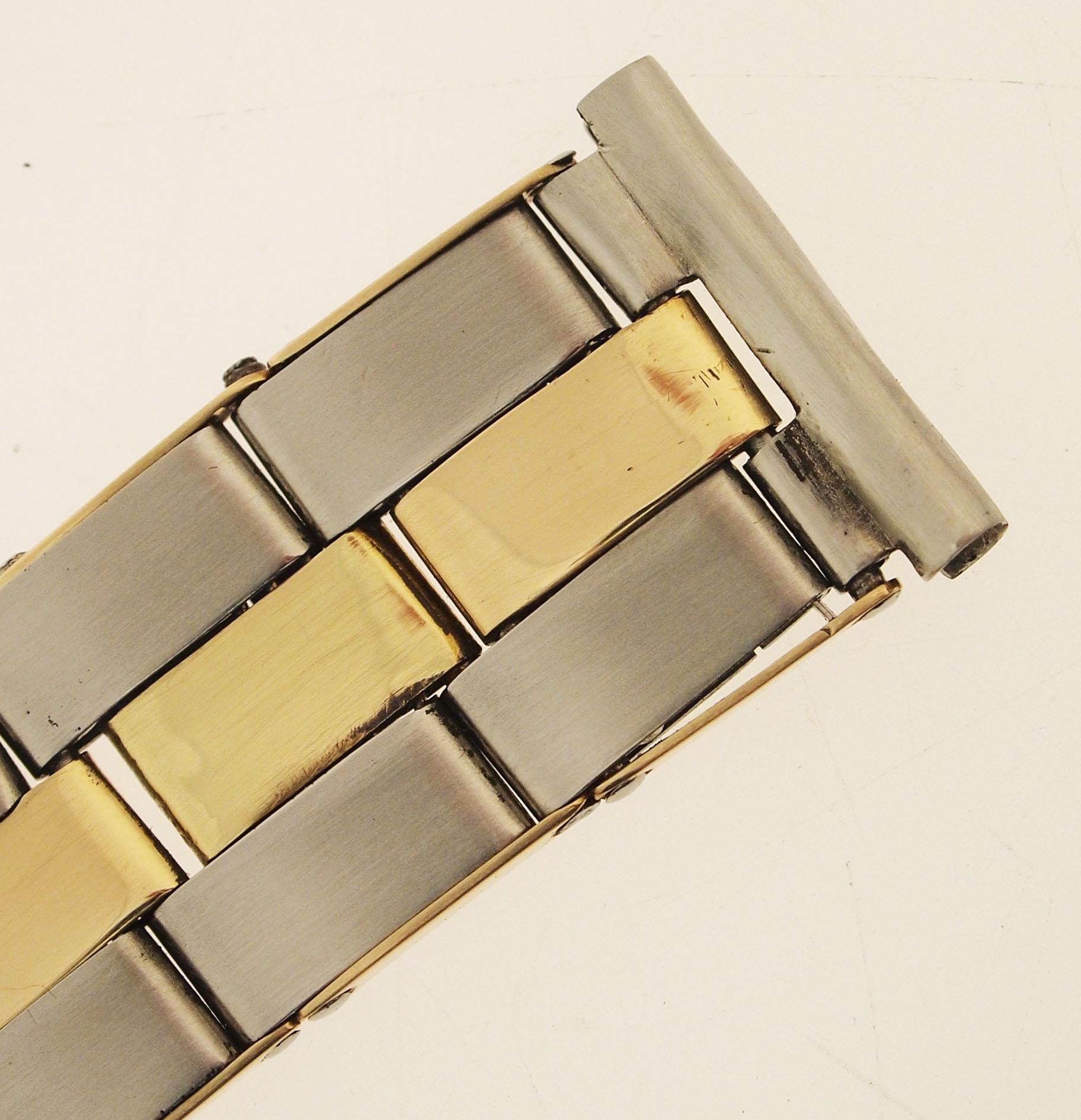 rolex flex armband stahl gold genietet 1940er jahre. Black Bedroom Furniture Sets. Home Design Ideas