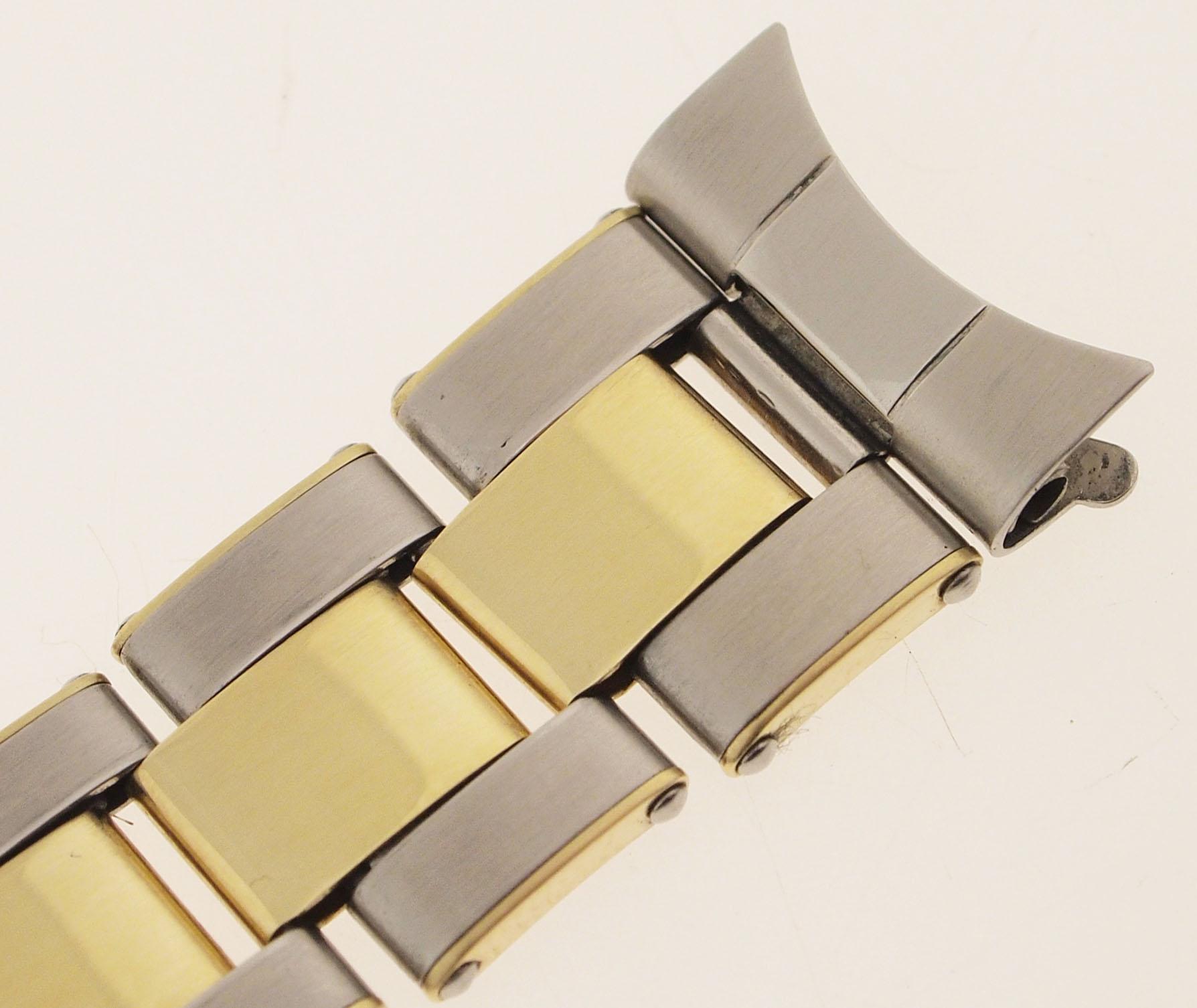 rolex oyster armband stahl 14ct gold genietet 1960er. Black Bedroom Furniture Sets. Home Design Ideas