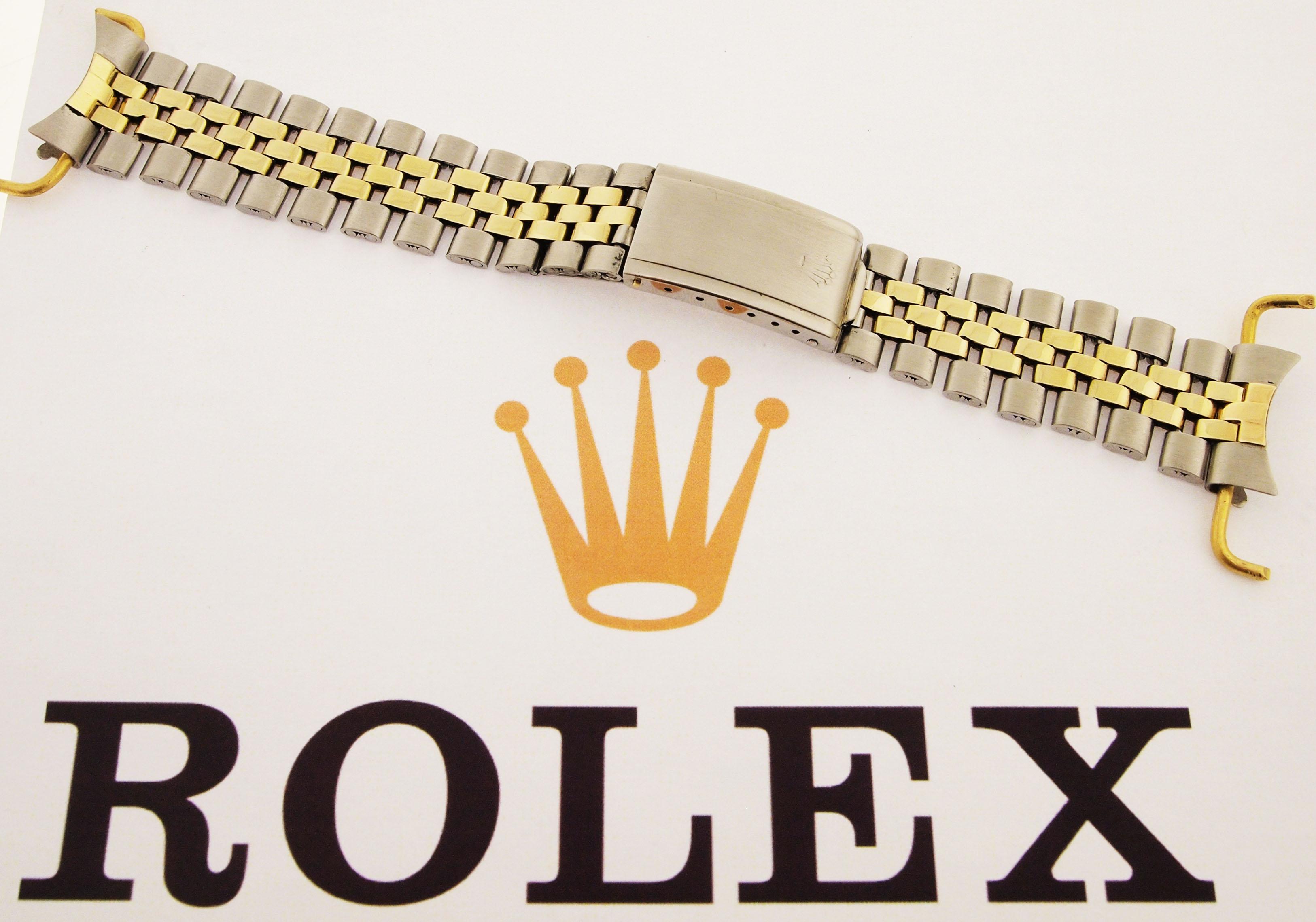 rolex jubilee armband stahl 14ct gold gefaltet 1960er. Black Bedroom Furniture Sets. Home Design Ideas