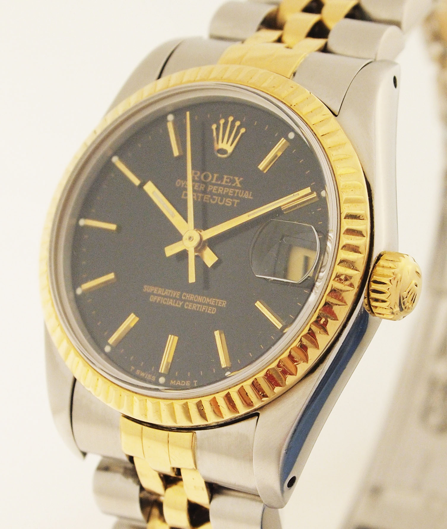 rolex datejust medium ref 68273 stahl gold mit jubilee. Black Bedroom Furniture Sets. Home Design Ideas