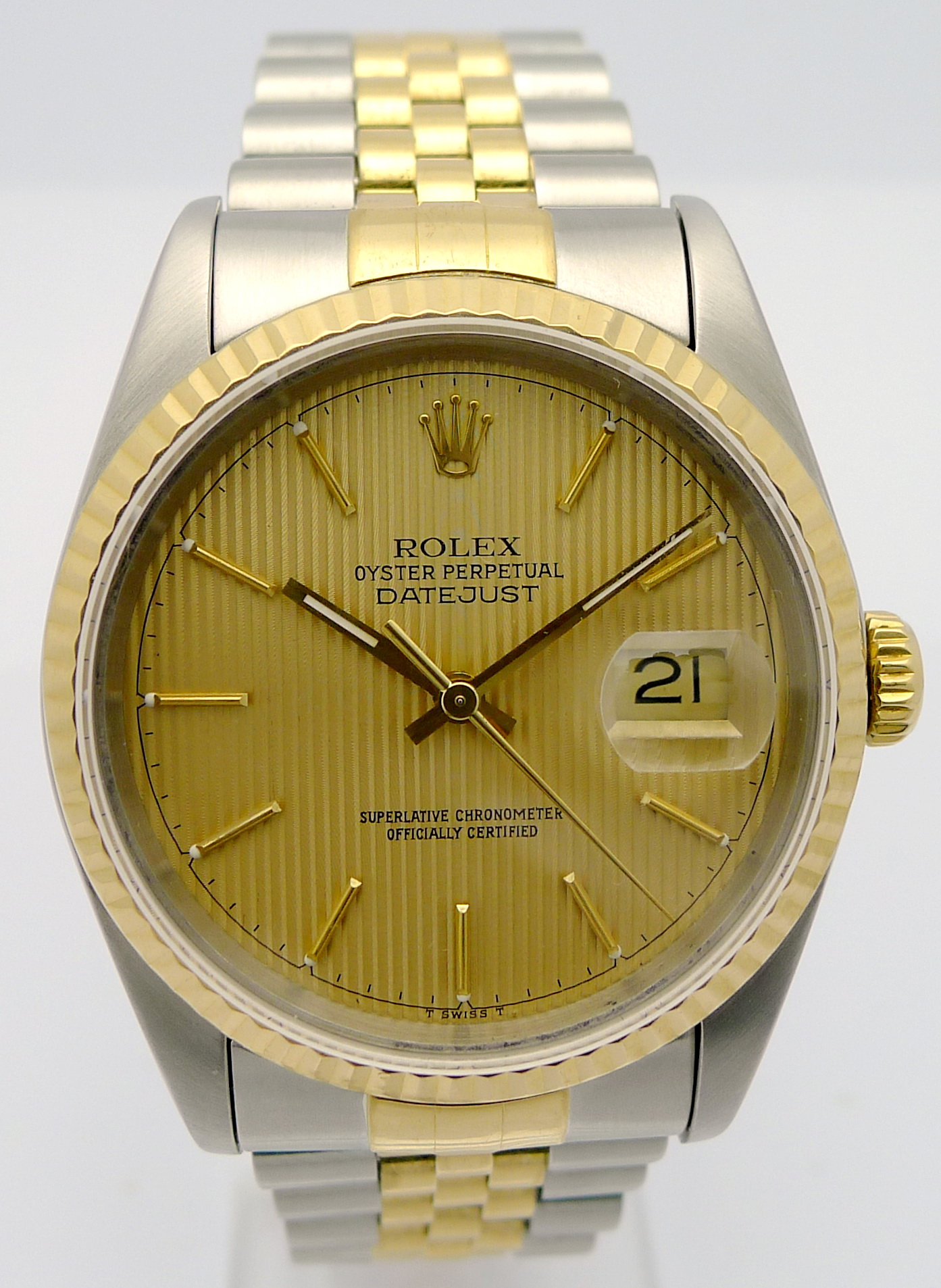 rolex datejust stahl gold herren automatik chronometer. Black Bedroom Furniture Sets. Home Design Ideas