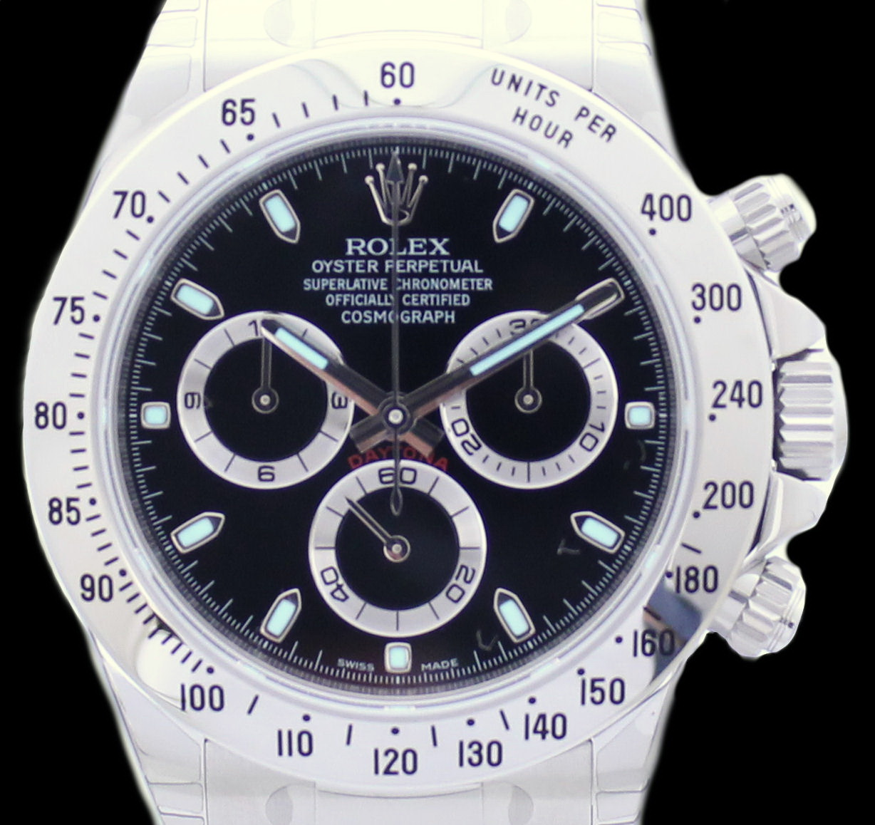 rolex daytona stahl herren cosmograph ref 116520 von 2016 neu full set ebay. Black Bedroom Furniture Sets. Home Design Ideas