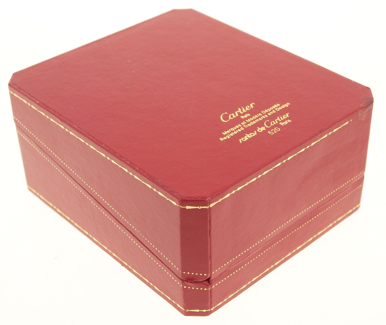 original cartier etui box rot mit goldverzierungen samt seide co 520 ebay. Black Bedroom Furniture Sets. Home Design Ideas