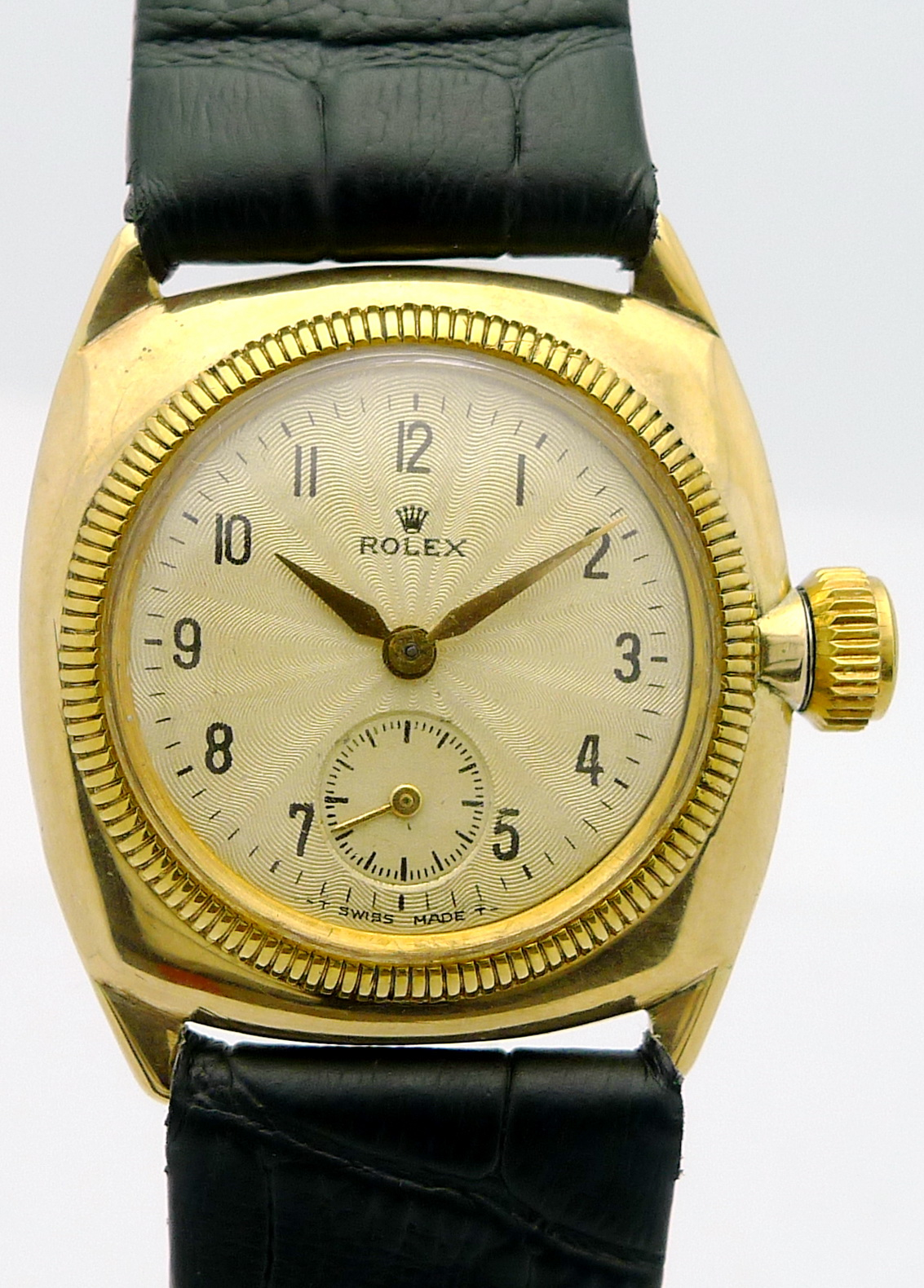 rolex cushion oyster in 9ct gold ref 34074 kanal damen armbanduhr um 1927 ebay. Black Bedroom Furniture Sets. Home Design Ideas
