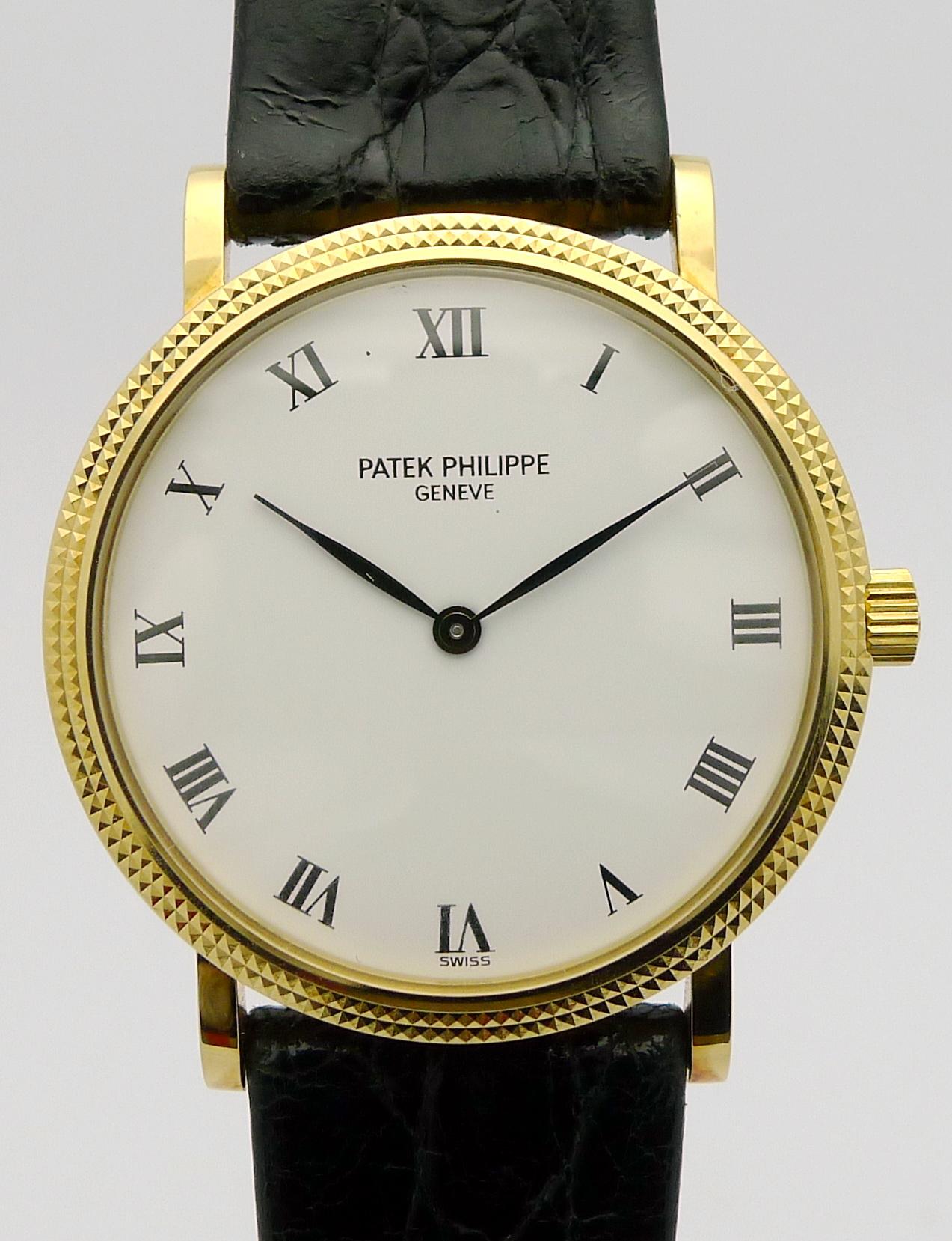 Patek Philippe Pp 5205 R Rosegold Black Dial Annual: Patek Philippe Calatrava 18ct Gold Herren Automatik
