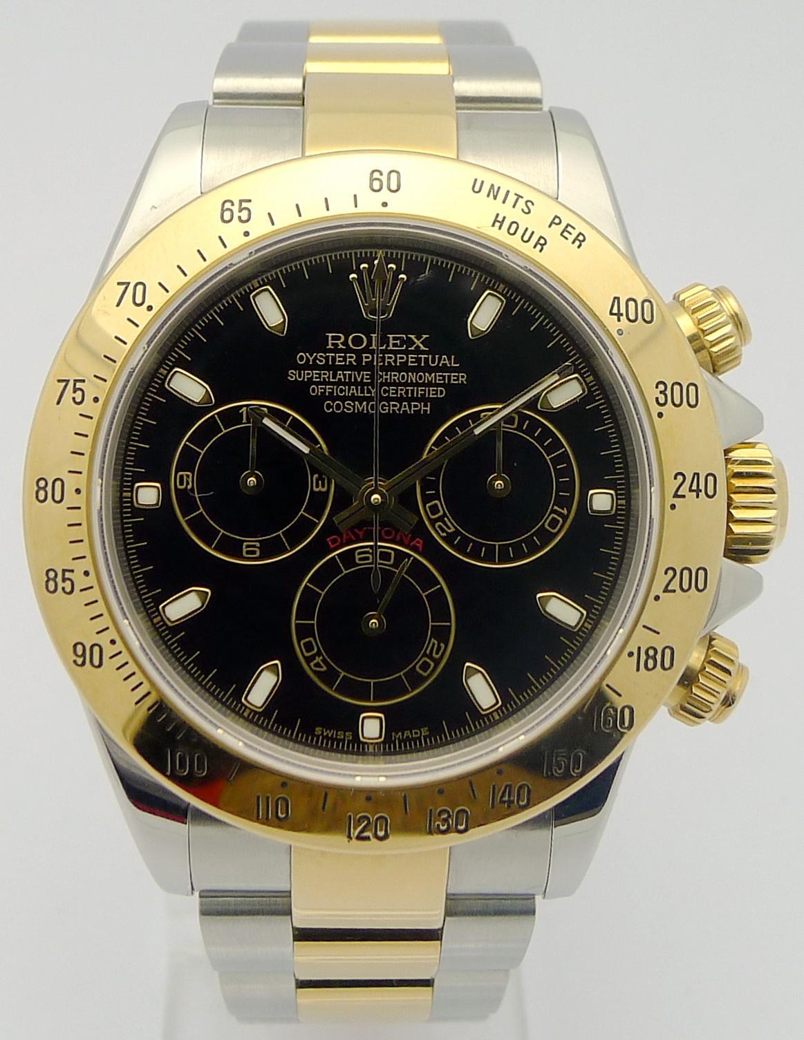 rolex daytona cosmograph stahl gold ref 116523 rolex zertifikat von 2004 ebay