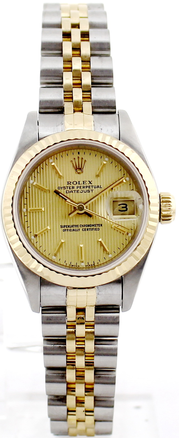 rolex datejust stahl gold damen automatik chronometer. Black Bedroom Furniture Sets. Home Design Ideas