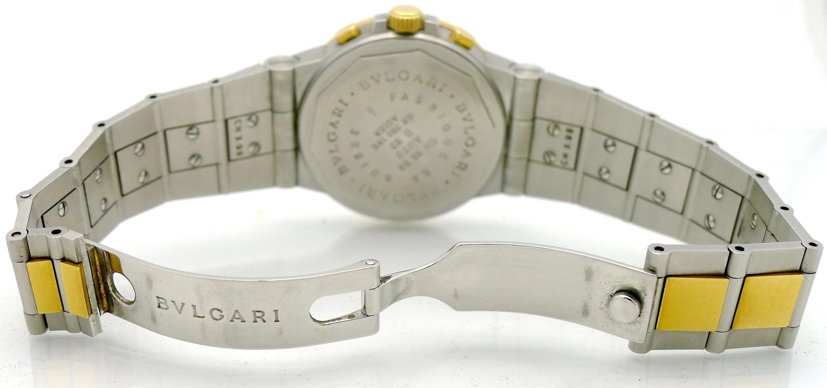 bulgari diagono stahl gold herren automatik chronograph ref ch 35 sg um 2000 ebay. Black Bedroom Furniture Sets. Home Design Ideas