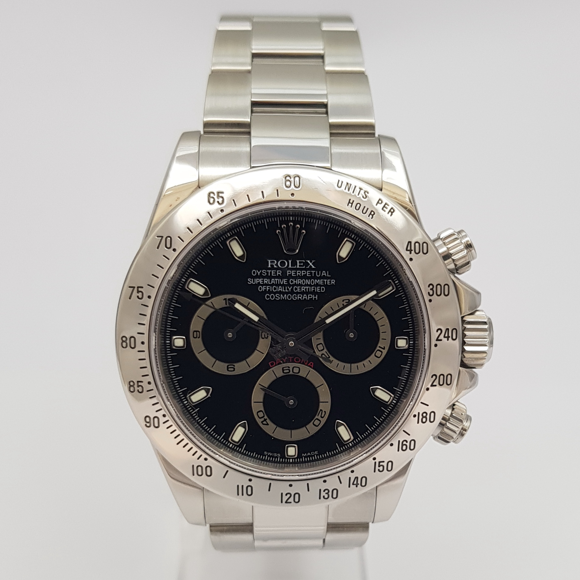 rolex daytona stahl herren cosmograph ref 116520 von 2001. Black Bedroom Furniture Sets. Home Design Ideas