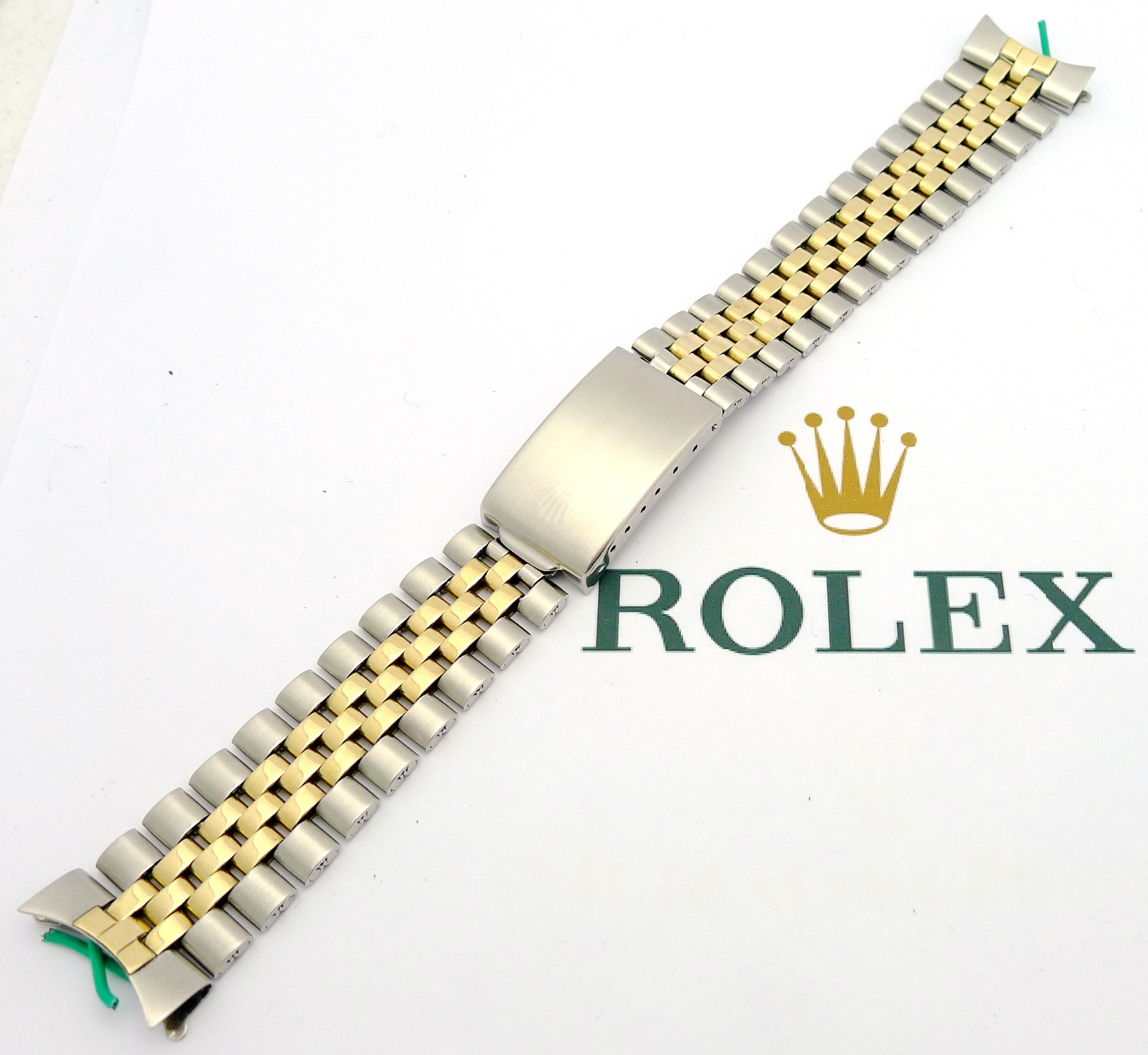 rolex herren jubilee stahl gold armband 20mm bracelet. Black Bedroom Furniture Sets. Home Design Ideas